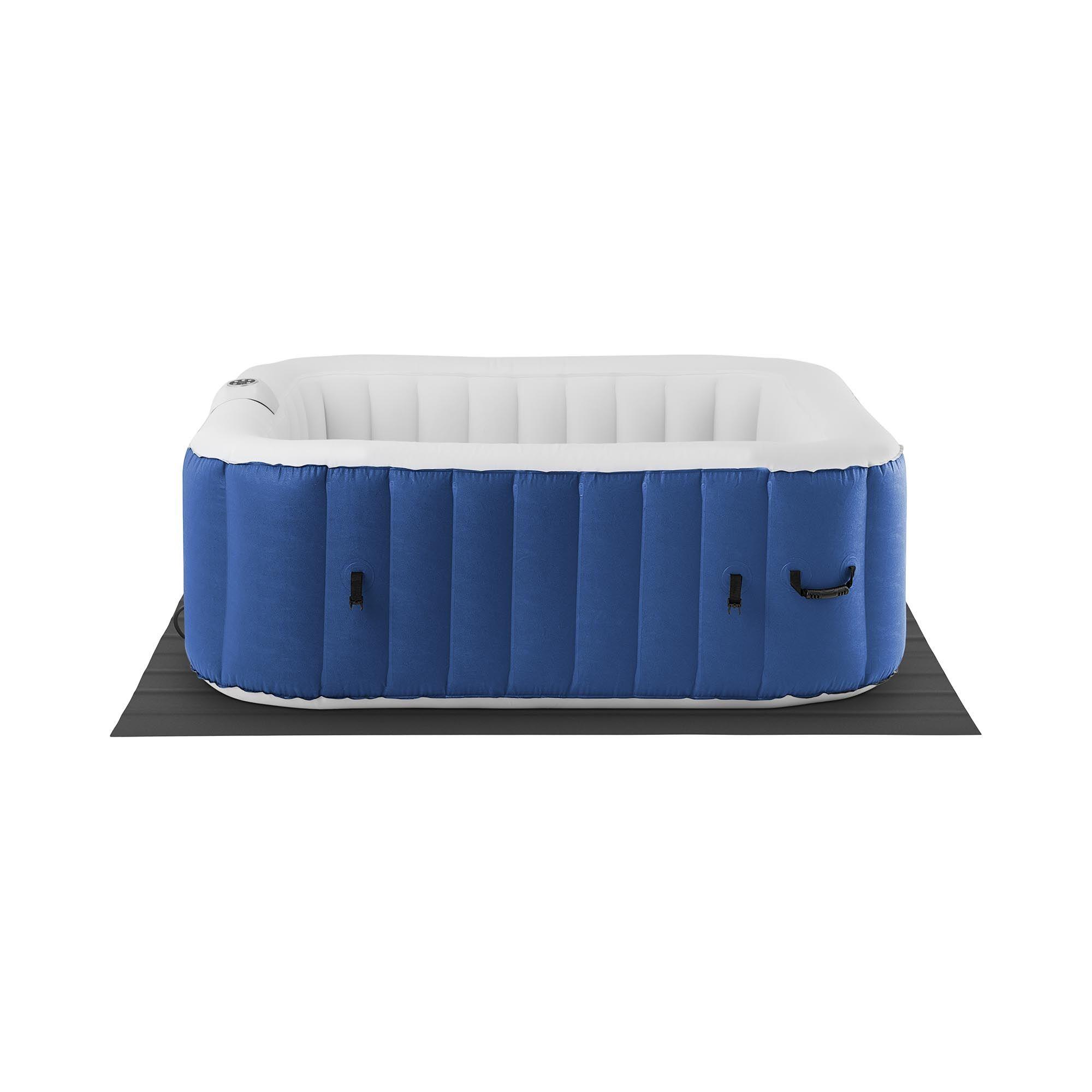 Uniprodo Idromassaggio gonfiabile - 900 l - 6 persone - 130 bocchette - Blu scuro/bianco UNI_POOLS_19