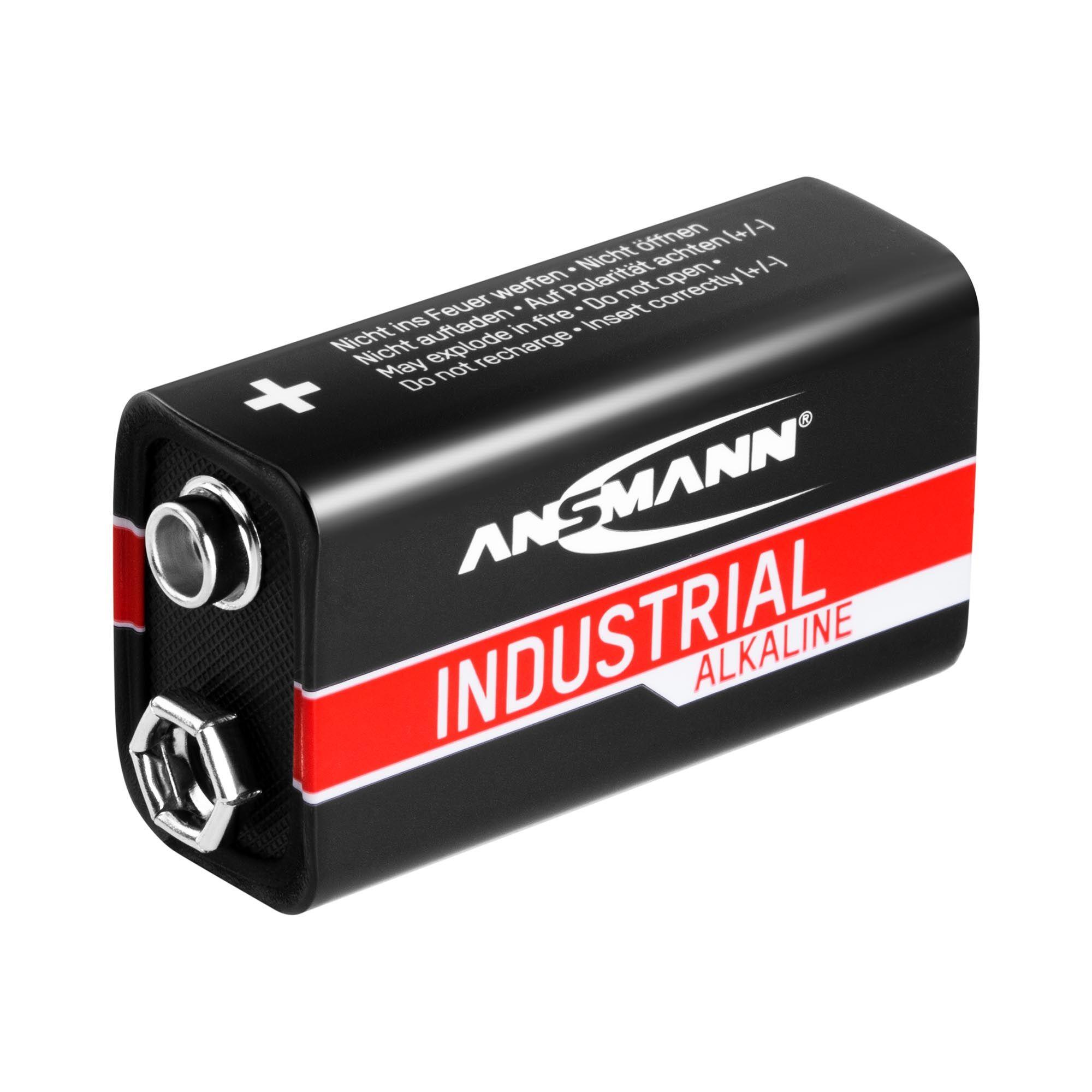 Ansmann INDUSTRIAL batterie alcaline - 10 batterie monoblocco 6LR61 1505-0001