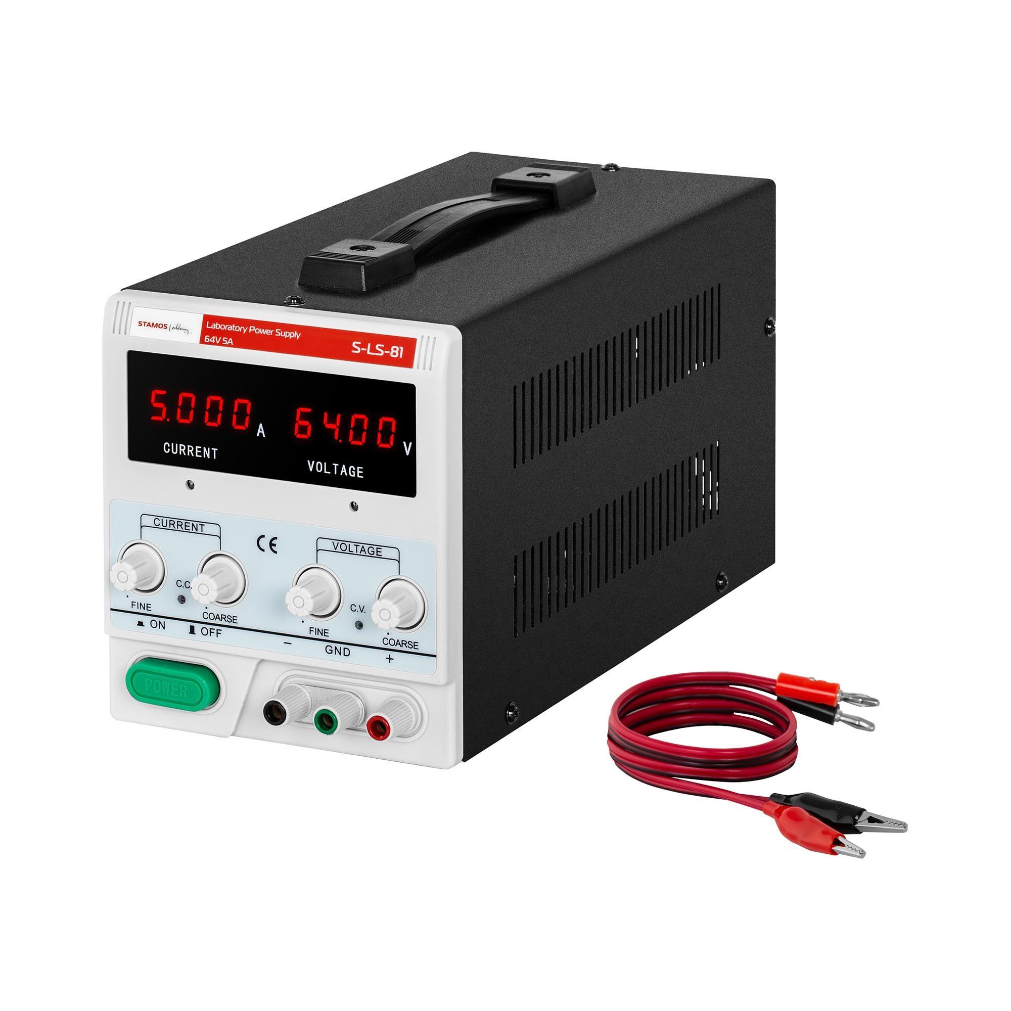 stamos soldering alimentatore stabilizzato da banco - 0-64 v - 0-5 a cc - 320 w s-ls-81