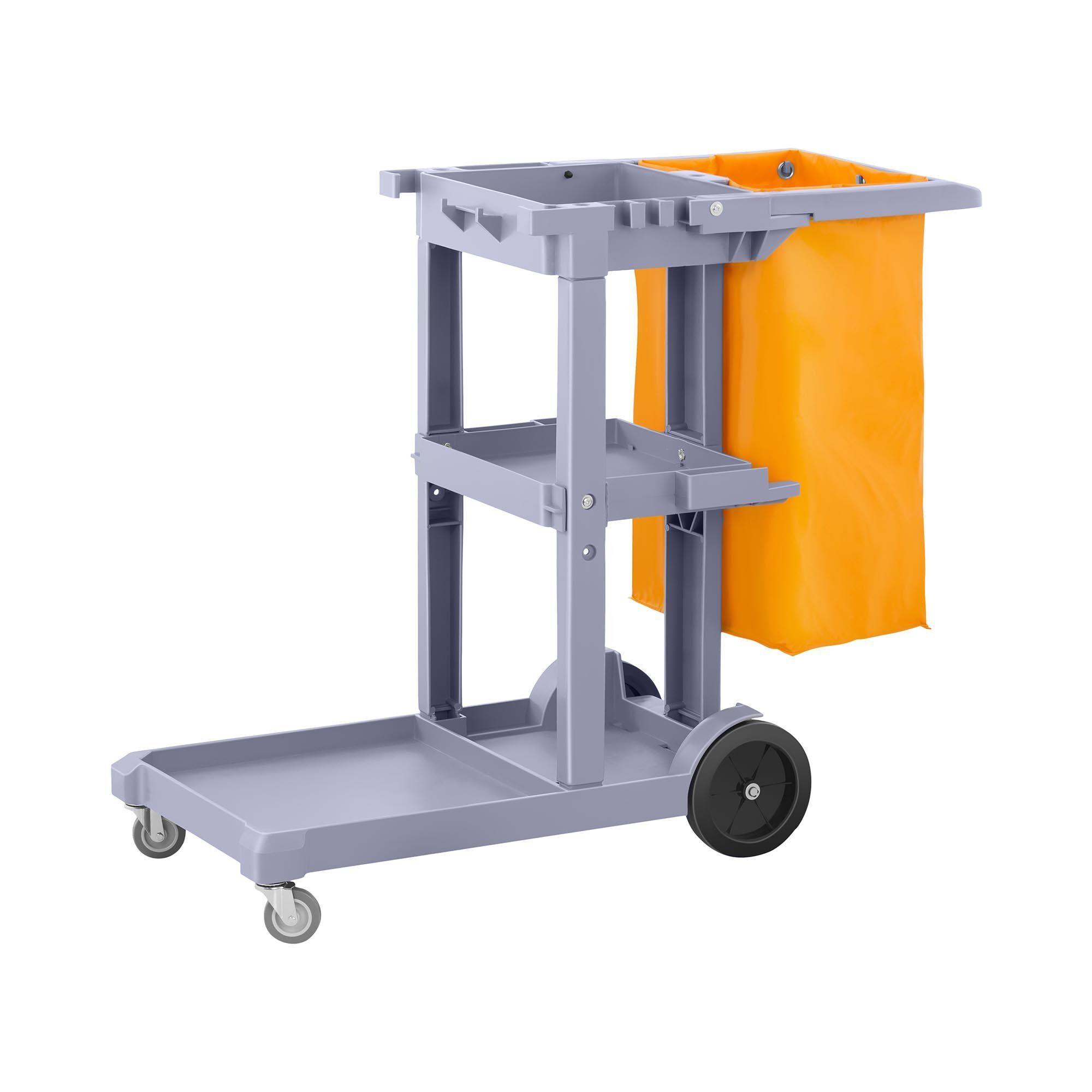 ulsonix carrello multiuso per pulizie con sacco per biancheria uniclean 5