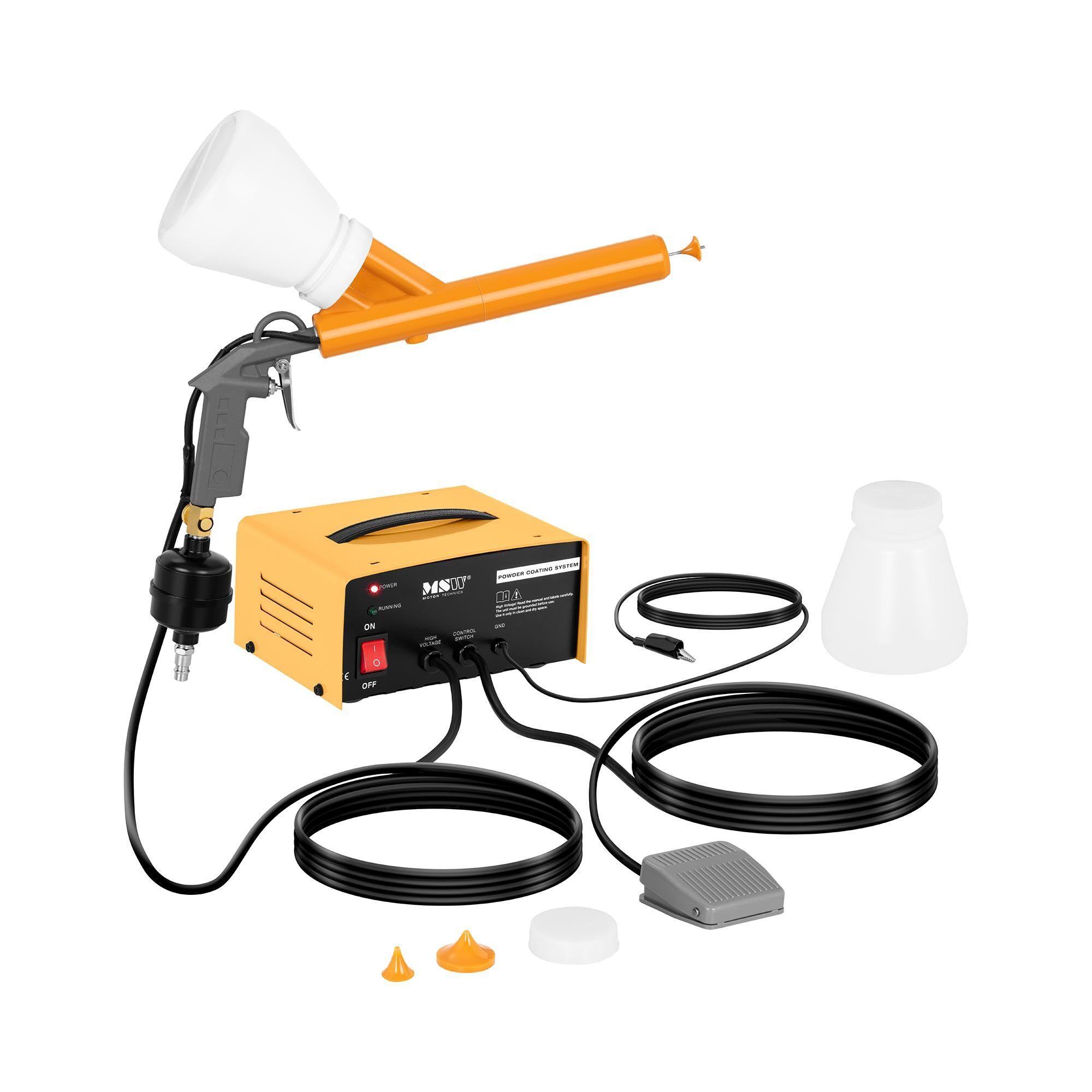 msw verniciatore a polvere - 2 x 650 ml - da 0,7 a 2,1 bar -pcs-100