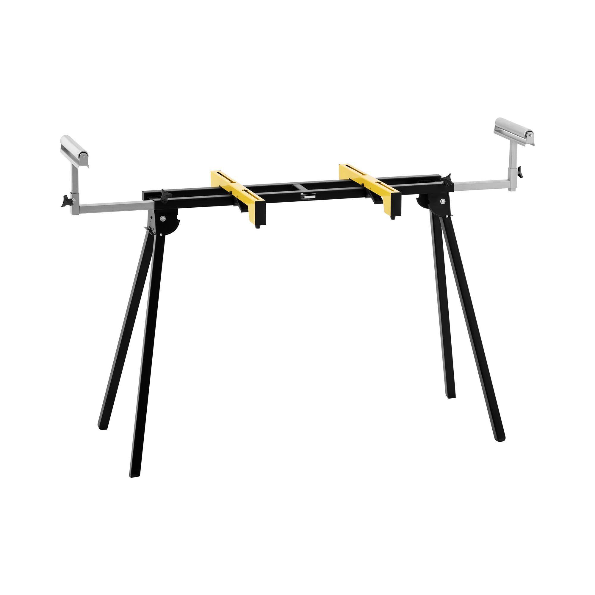 msw banco per troncatrice in metallo - da 102 fino a 188 cm - 200 kg - pieghevole e regolabile in altezza -ssm-200