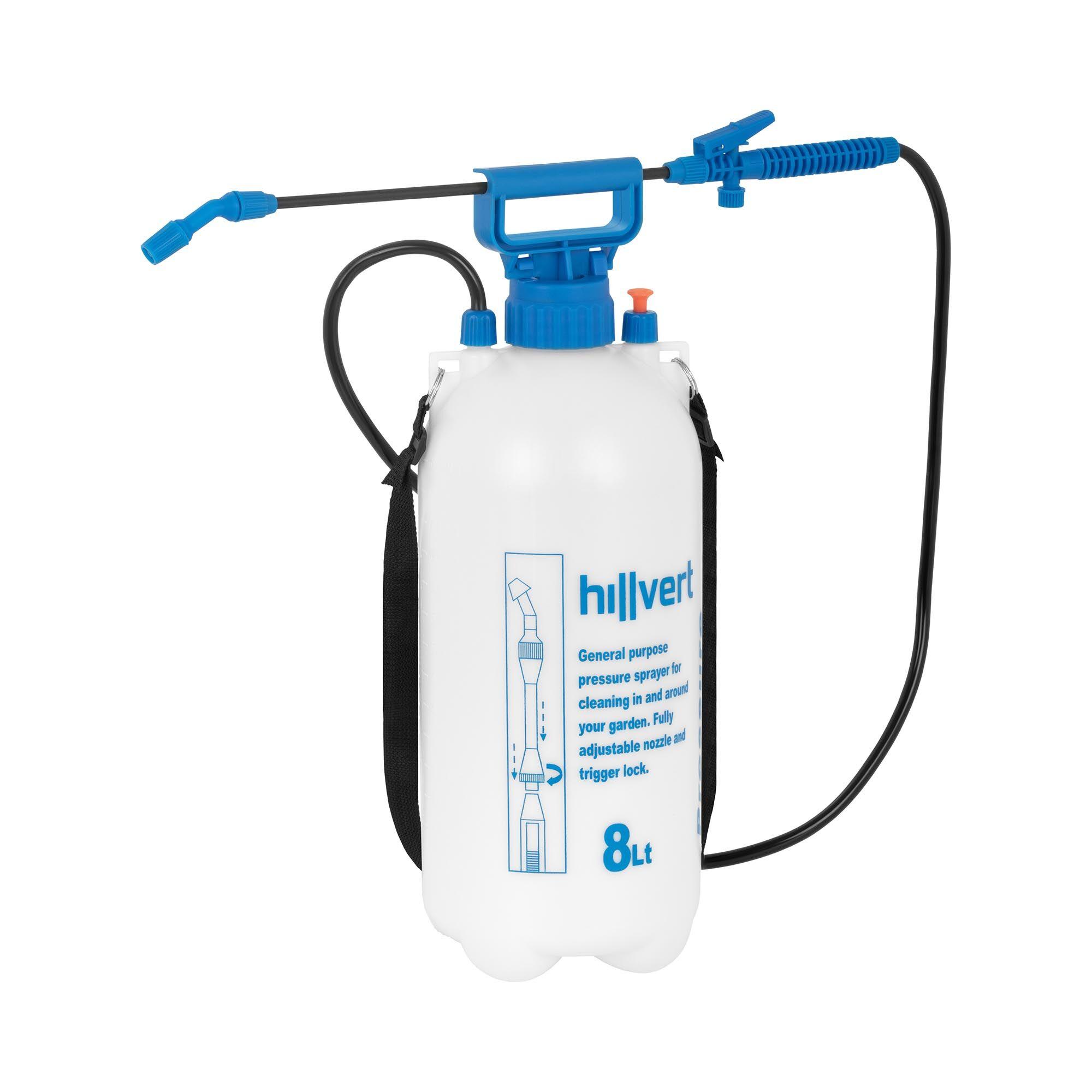 hillvert pompa irroratrice a pressione - 8 l ht-columbia-8l