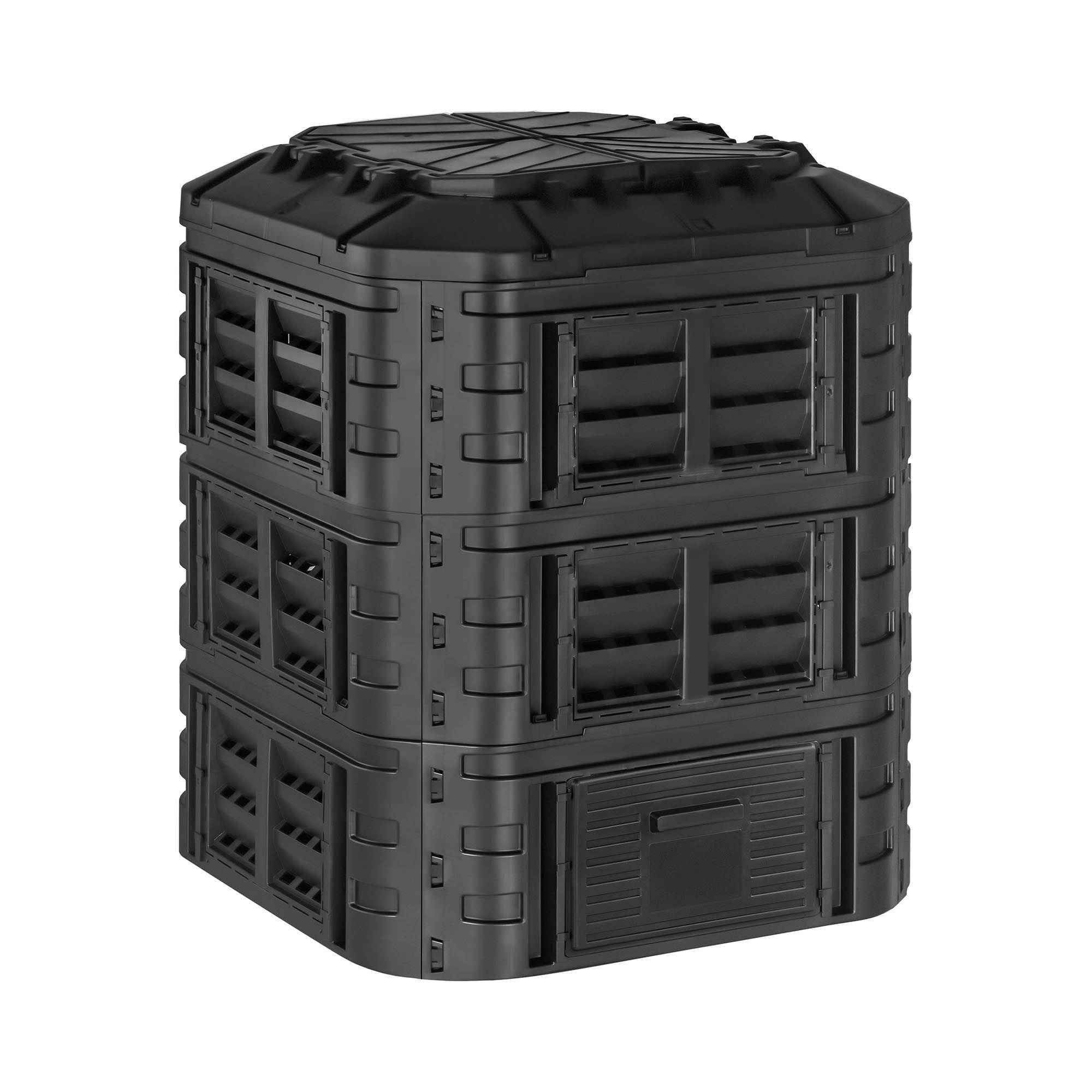 hillvert compostiera da giardino - 860 l ht-m-comp-860