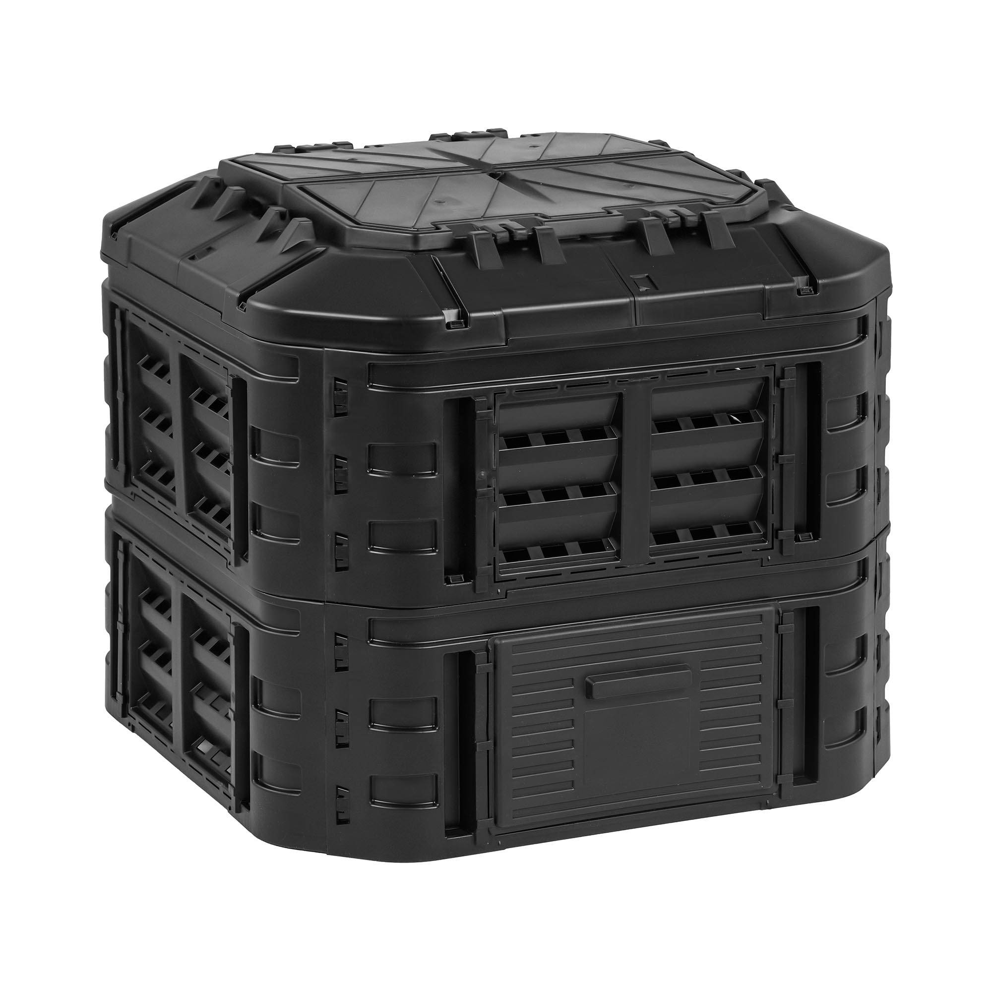 hillvert compostiera da giardino - 600 l ht-m-comp-600