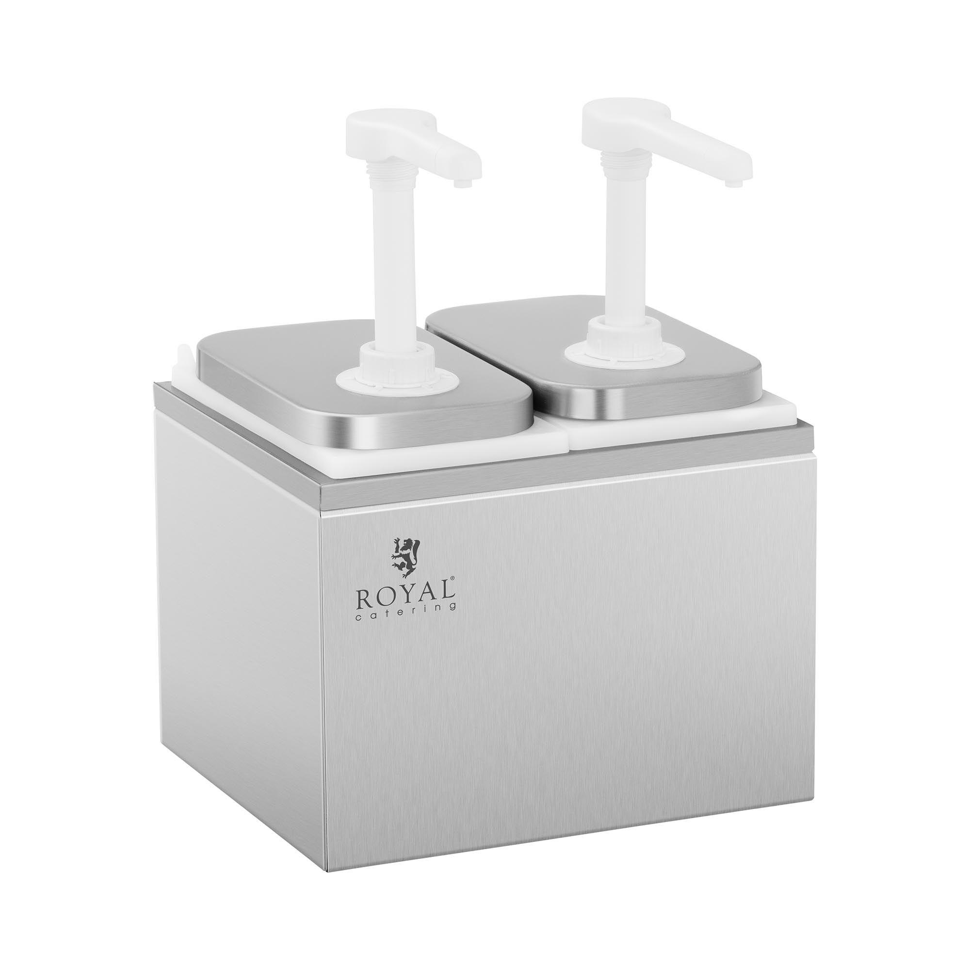 Royal Catering Dispenser per salse - 2 pompe - 2 x 2 L RCDI-4L