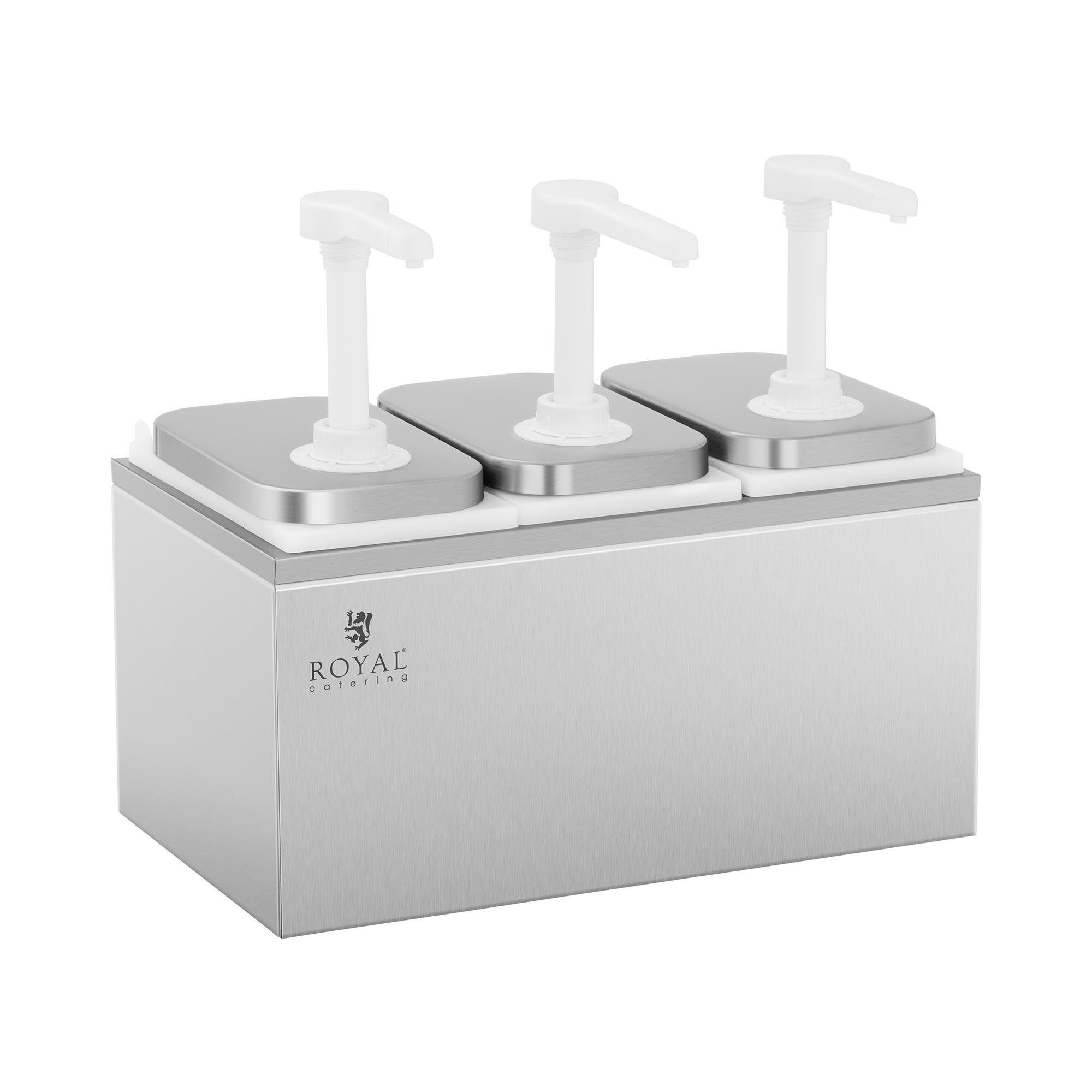 Royal Catering Dispenser per salse - 3 pompe - 3 x 2 L RCDI-6L