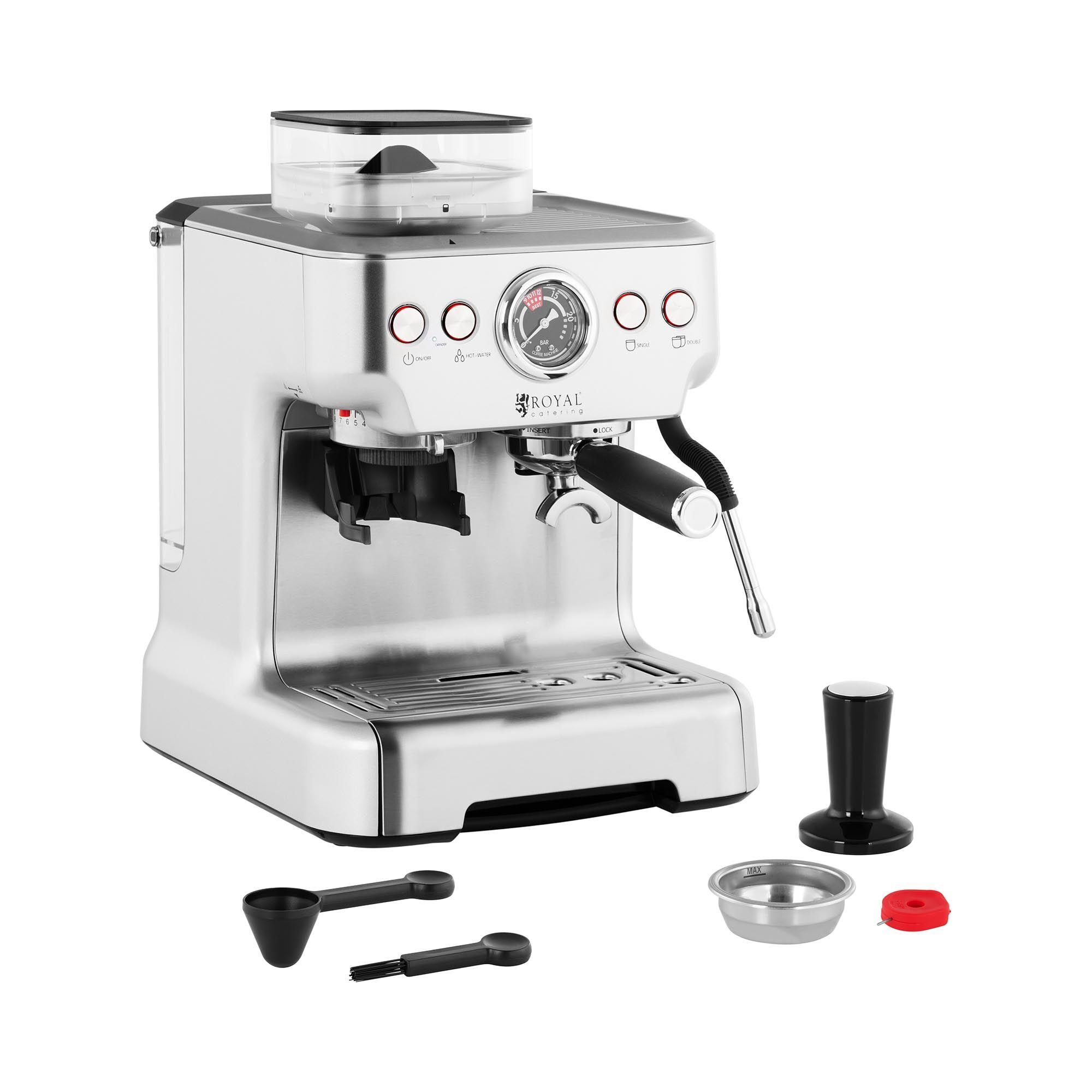 Royal Catering Macchina caffè espresso - 20 bar - Serbatoio acqua di 2,5 L RC-BCPM01