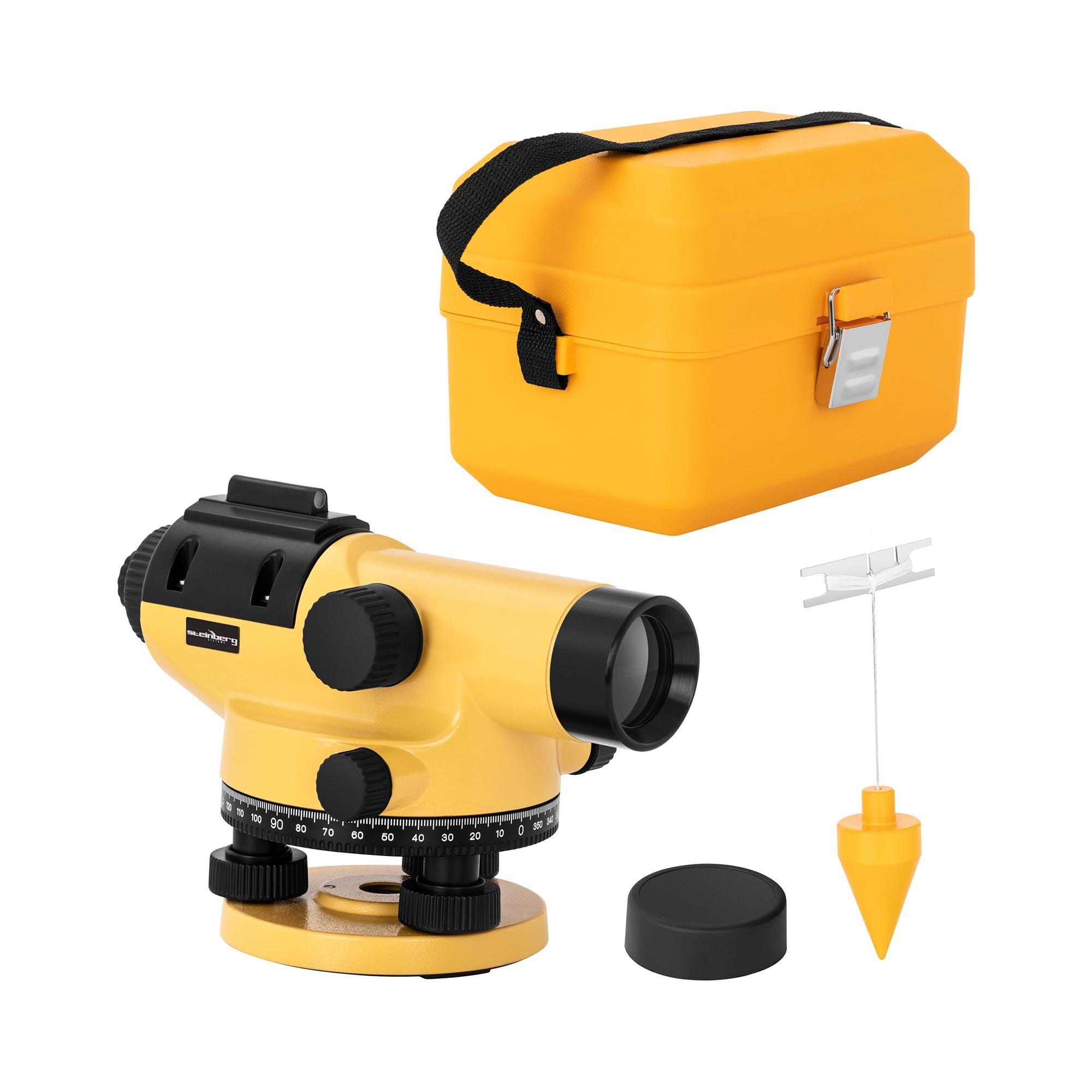 Steinberg Livello ottico - ingrandimento 32x - obiettivo 38 mm - deviazione 1 mm - compensatore magnetico - alluminio SBS-LI-32/38