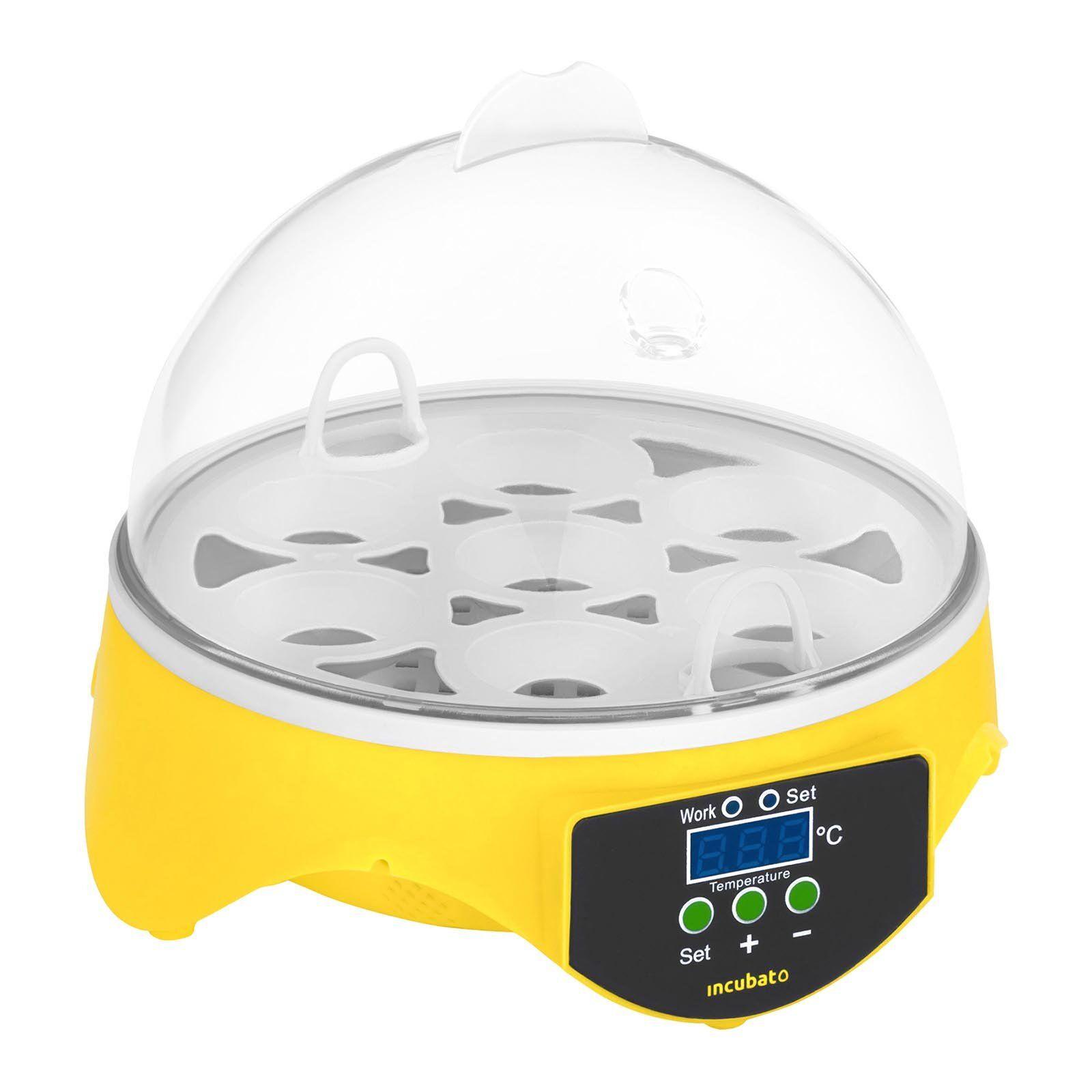 incubato Incubatrice per uova professionale - 7 uova - lampada sperauova inclusa IN-7DDI