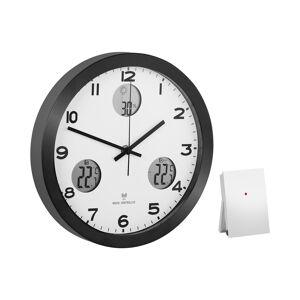 Uniprodo Orologio da parete analogico e digitale radiocontrollato - Ø 30 cm - Stazione meteo UNI_CLOCK_10