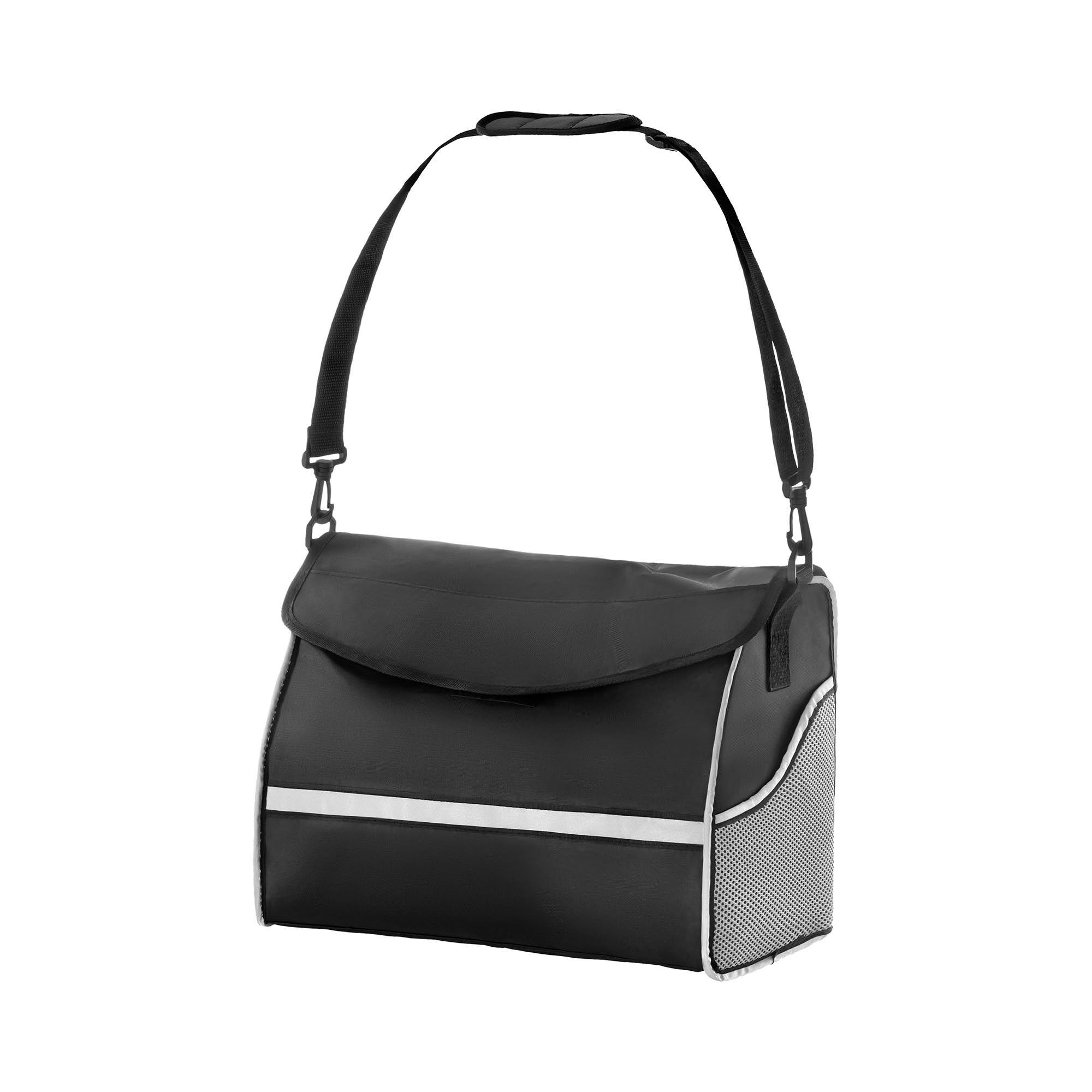 uniprodo borsa per deambulatore - argento/nera - grande uni_roll_06 p