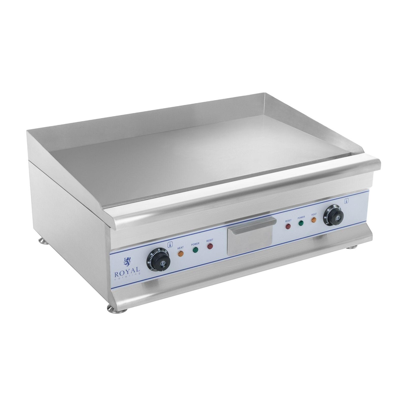 royal catering fry top liscio elettrico - 72,5 cm - liscio - 2 x 3.2 kw - per uso professionale