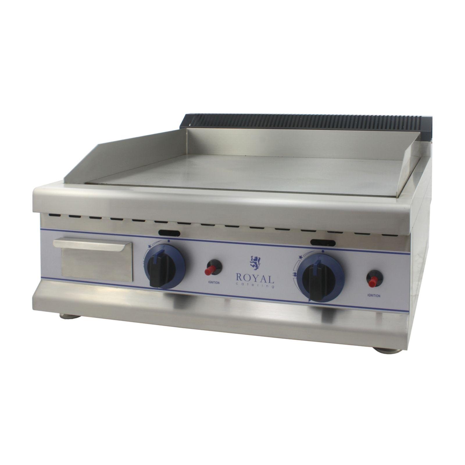 royal catering fry top a gas da banco - 65 cm - propano/butano 30 mbar rcgl 65l30h