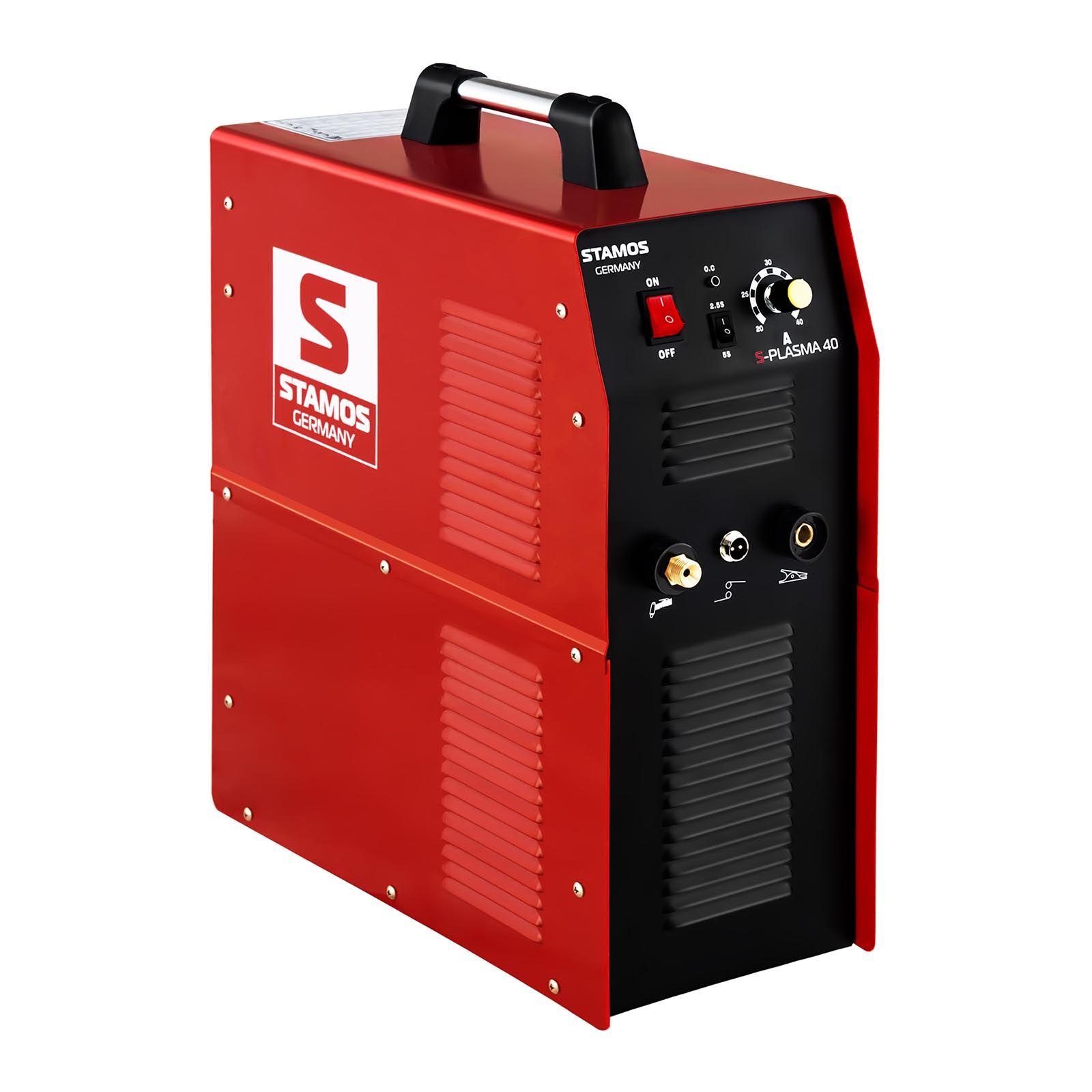 stamos germany tagliatrice al plasma - 40 a - 230 v - compressore ad aria integrato - per uso professionale