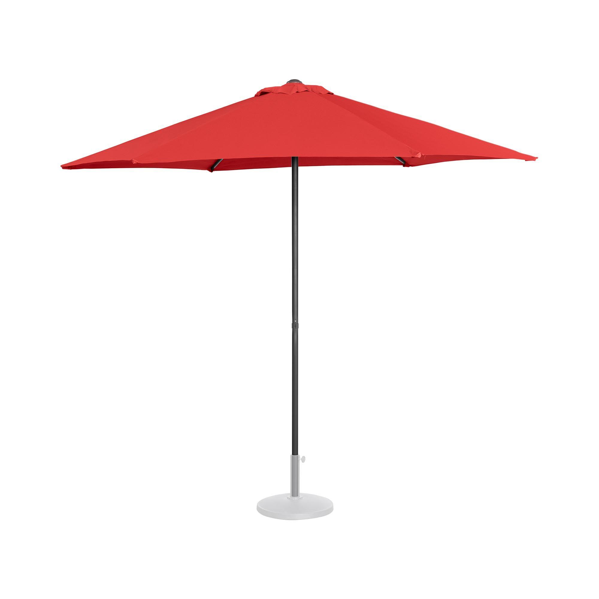 uniprodo ombrellone da esterno - palo centrale - rosso - esagonale - Ø 270 cm uni_umbrella_mr270re