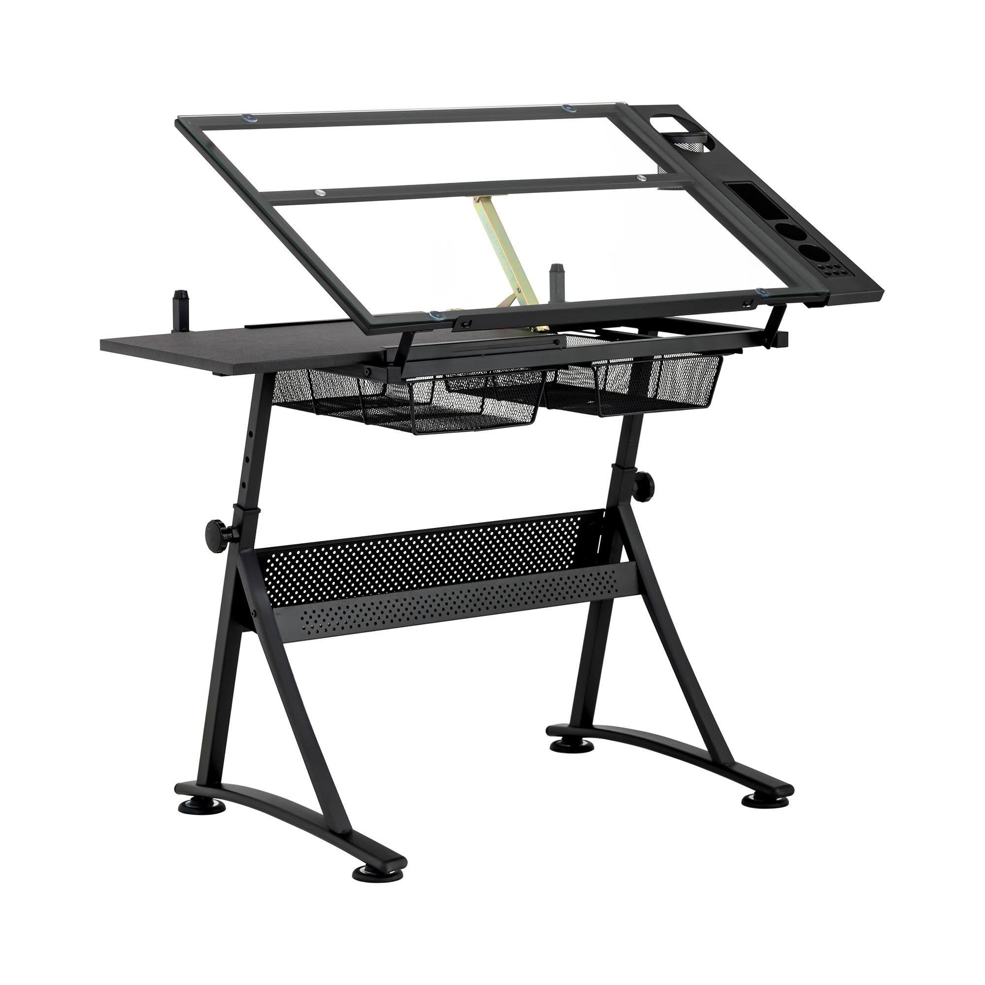fromm & starck tavolo da disegno inclinabile - 120 x 60 x 90 cm - piano in vetro star_desk_09