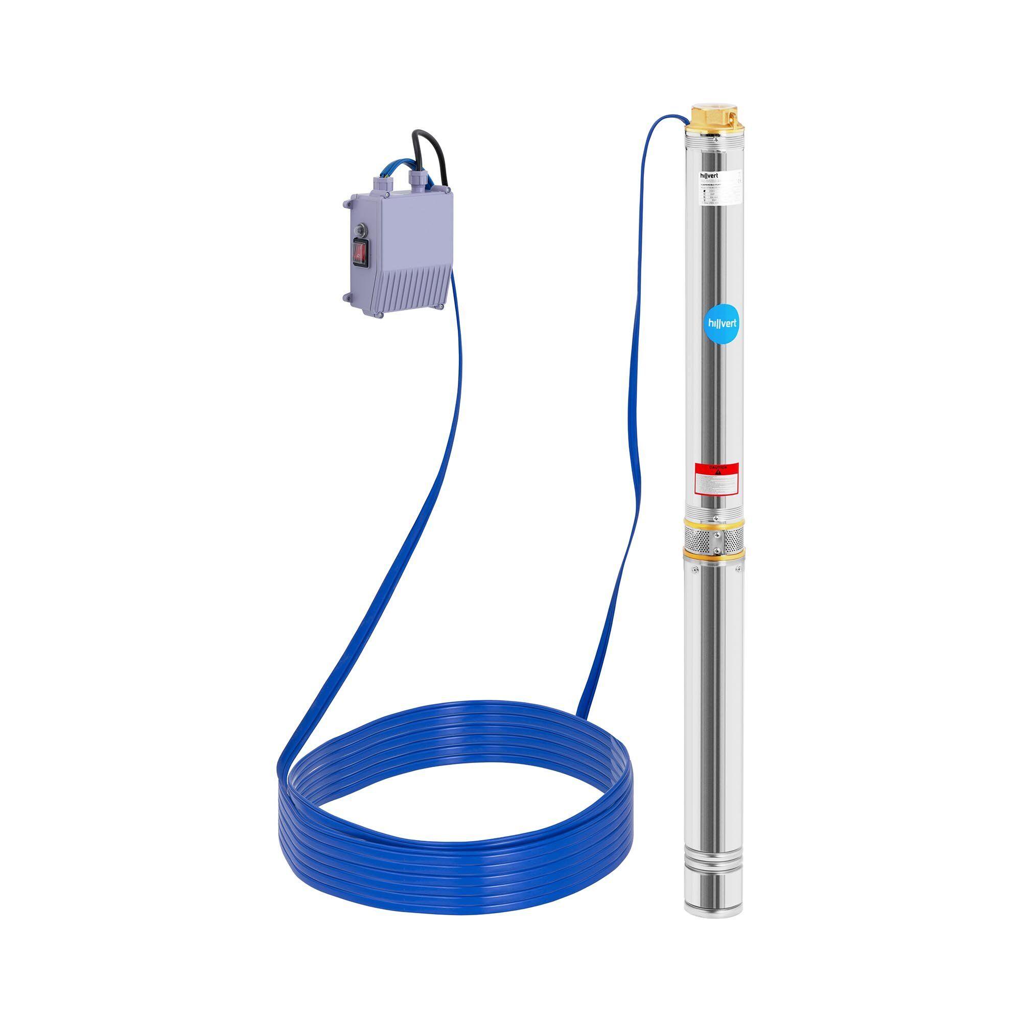 hillvert pompa sommersa per pozzo - 9.000 l/h - 2.200 w ht-robson-sp2200-72
