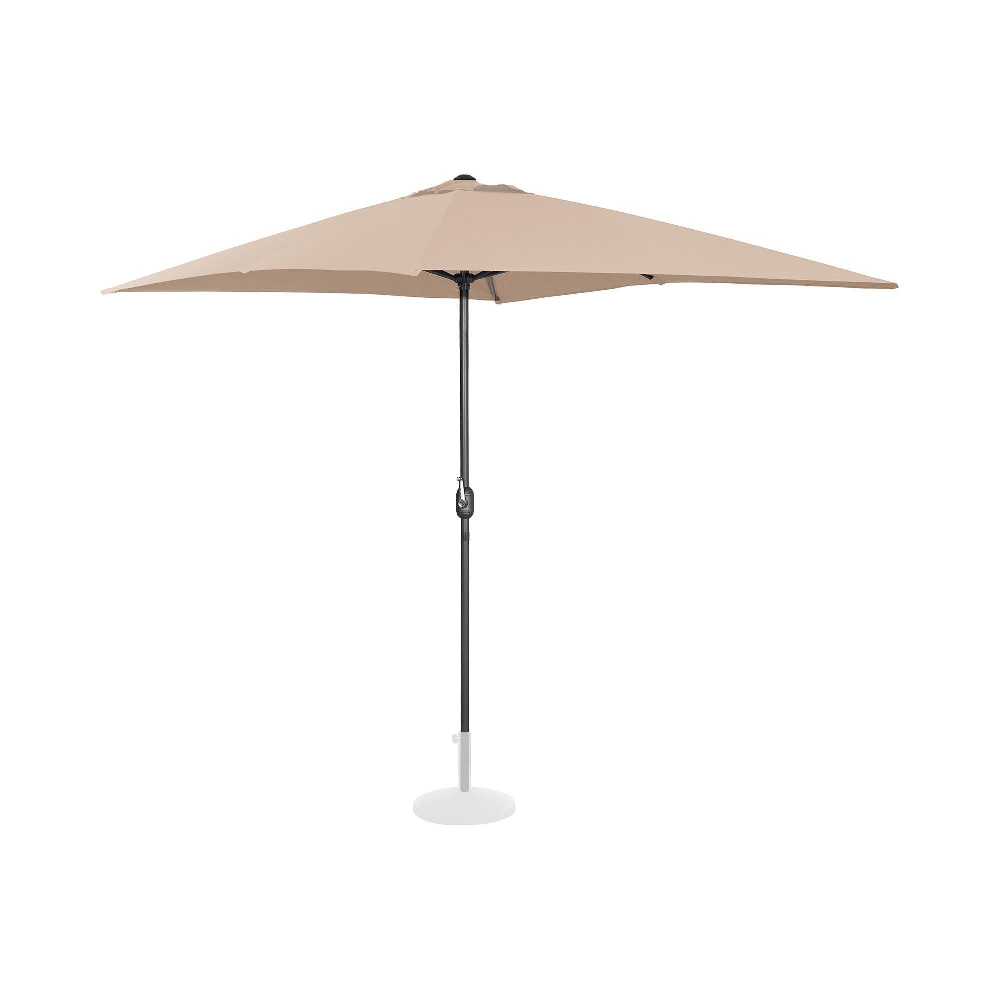 Uniprodo Ombrellone da esterno grande - crema - rettangolare - 200 x 300 cm UNI_UMBRELLA_SQ2030CR