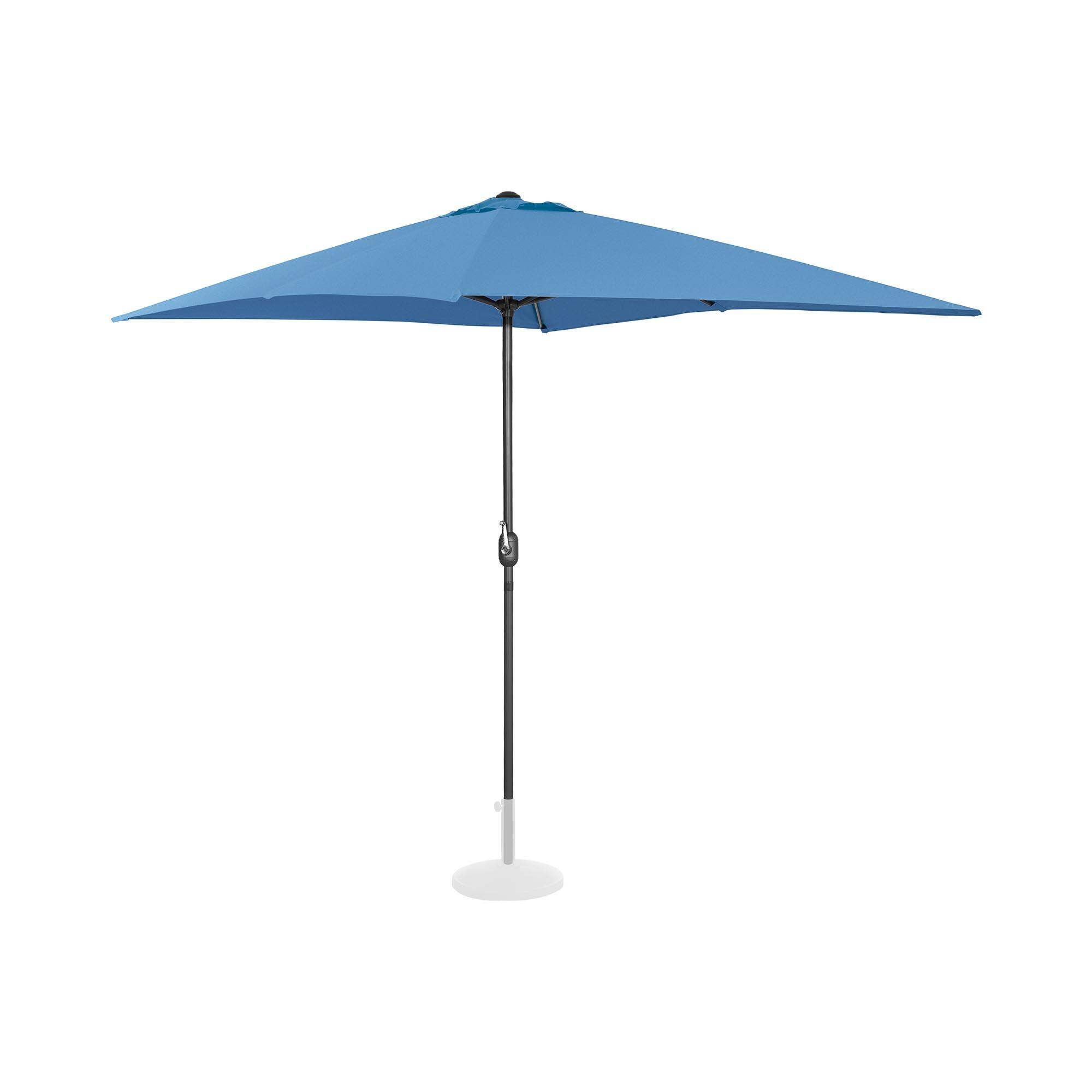 Uniprodo Ombrellone da esterno - palo centrale - blu - rettangolare - 200 x 300 cm UNI_UMBRELLA_SQ2030BL