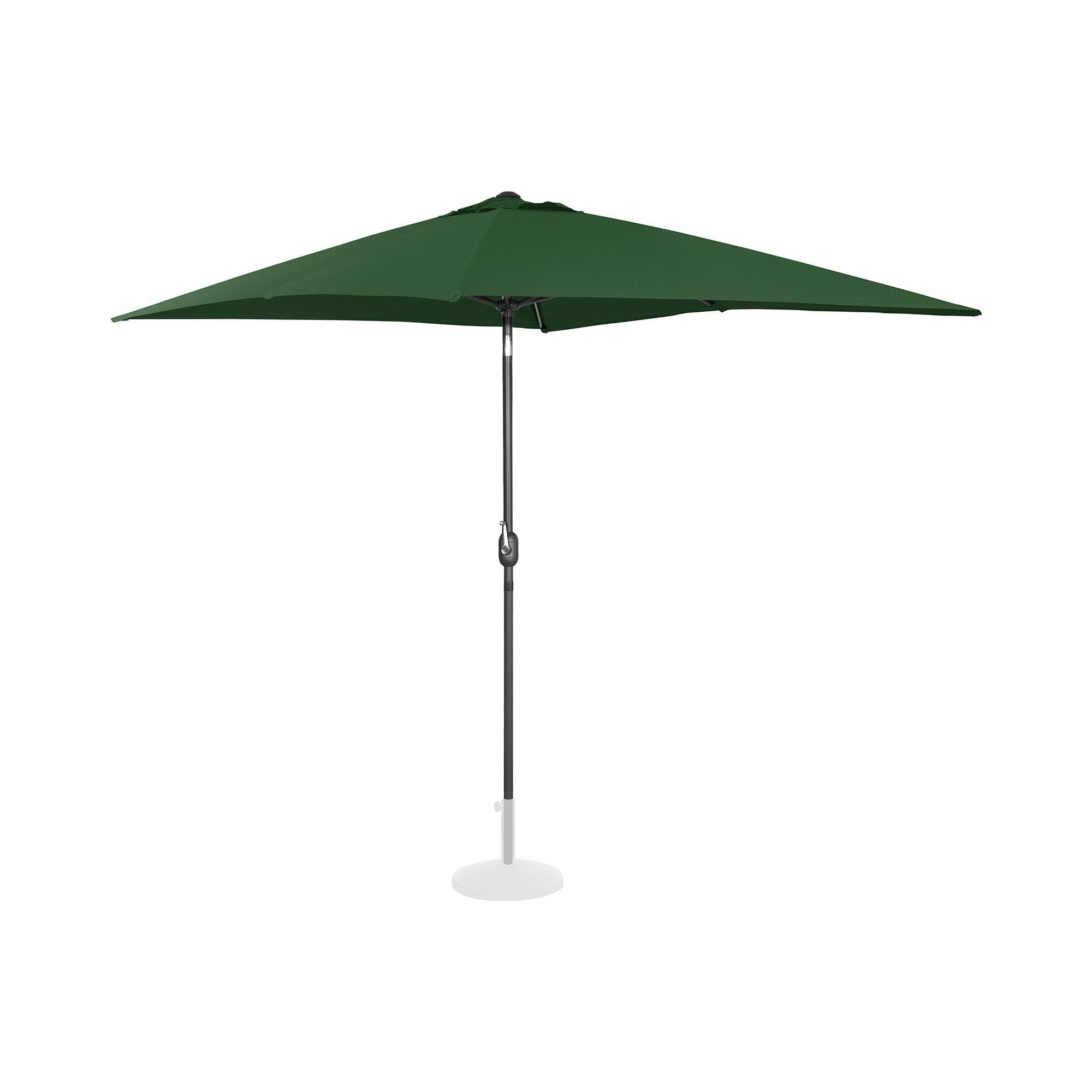 Uniprodo Ombrellone da esterno - palo centrale - verde - rettangolare - 200 x 300 cm - inclinabile UNI_UMBRELLA_TSQ2030GR