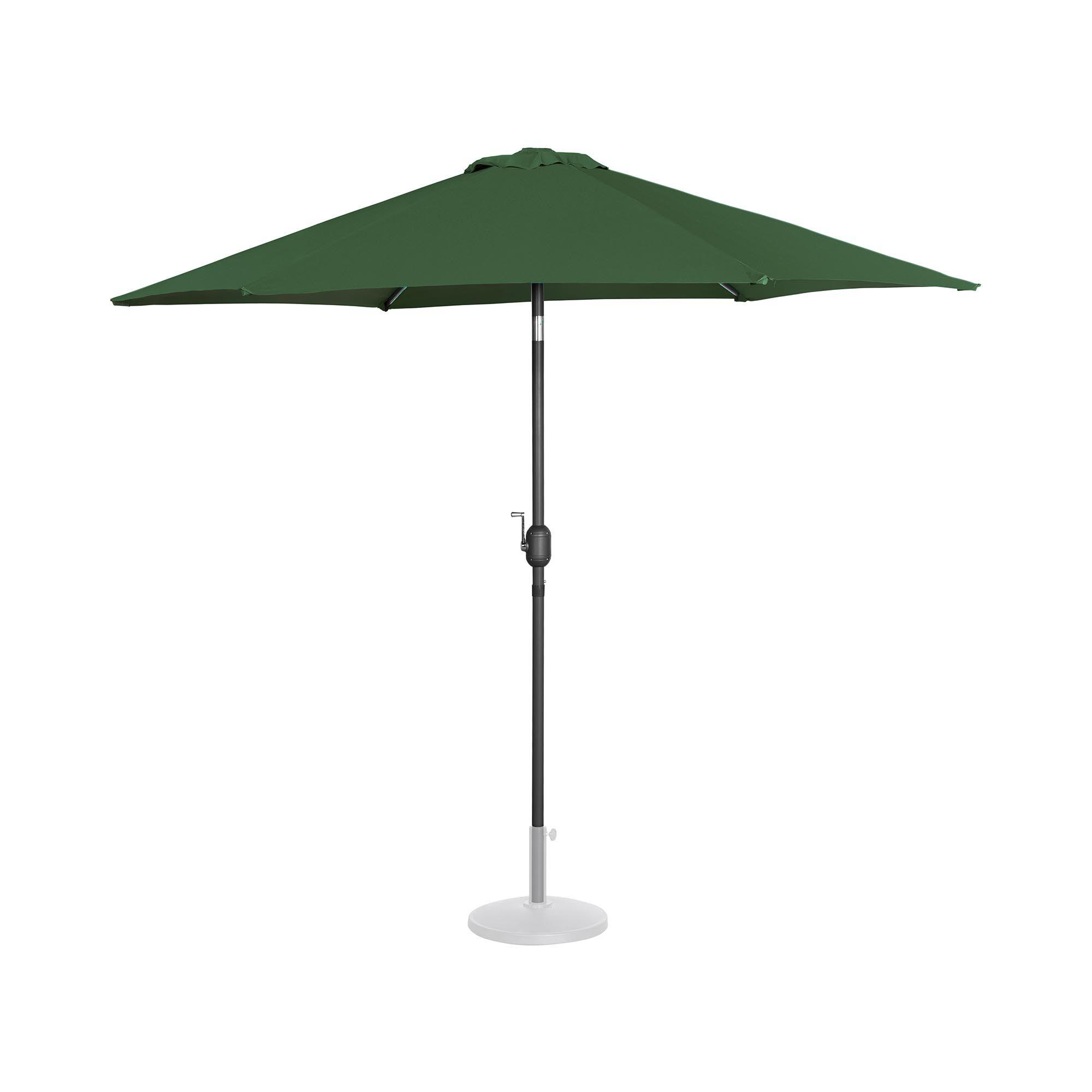 Uniprodo Ombrellone palo centrale grande - verde - esagonale - Ø 270 cm - inclinabile UNI_UMBRELLA_R270GR