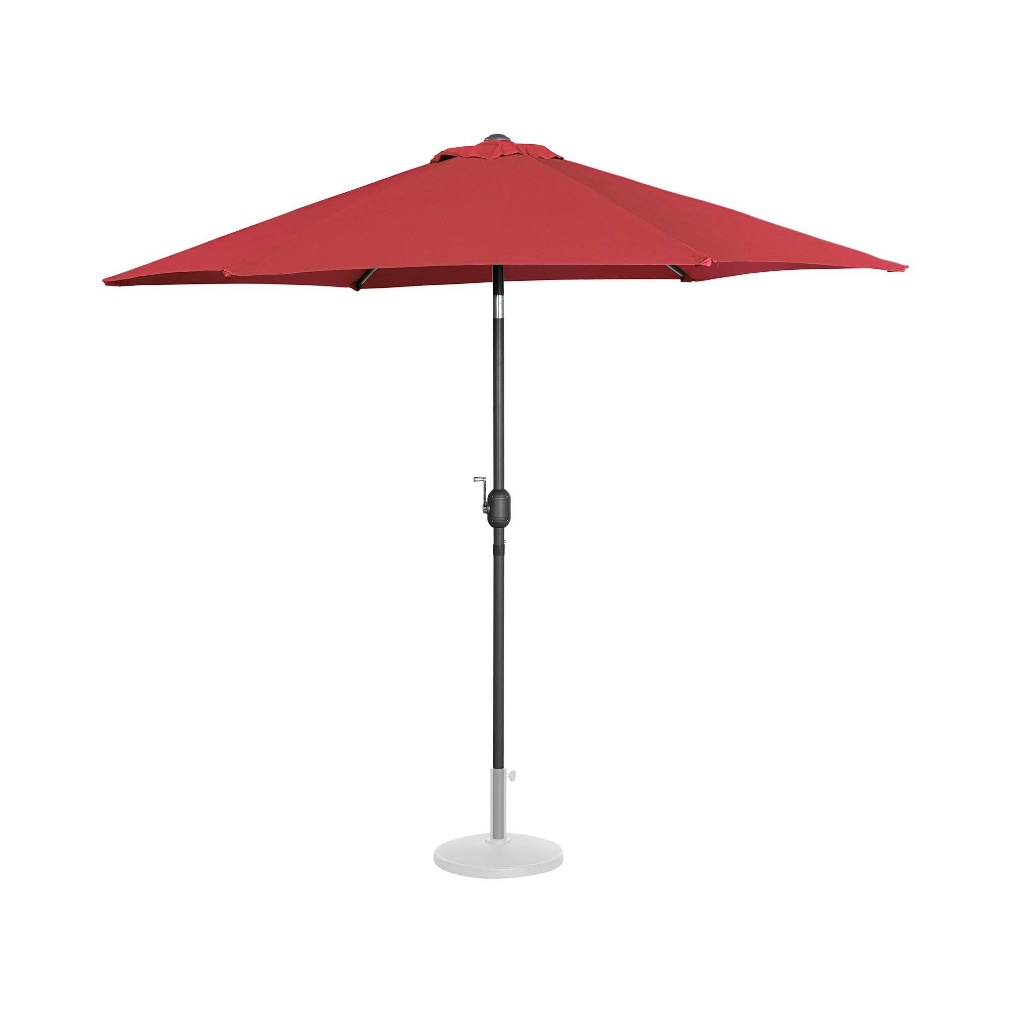 Uniprodo Ombrellone da esterno grande - bordeaux - esagonale - Ø 270 cm - inclinabile UNI_UMBRELLA_R270BO