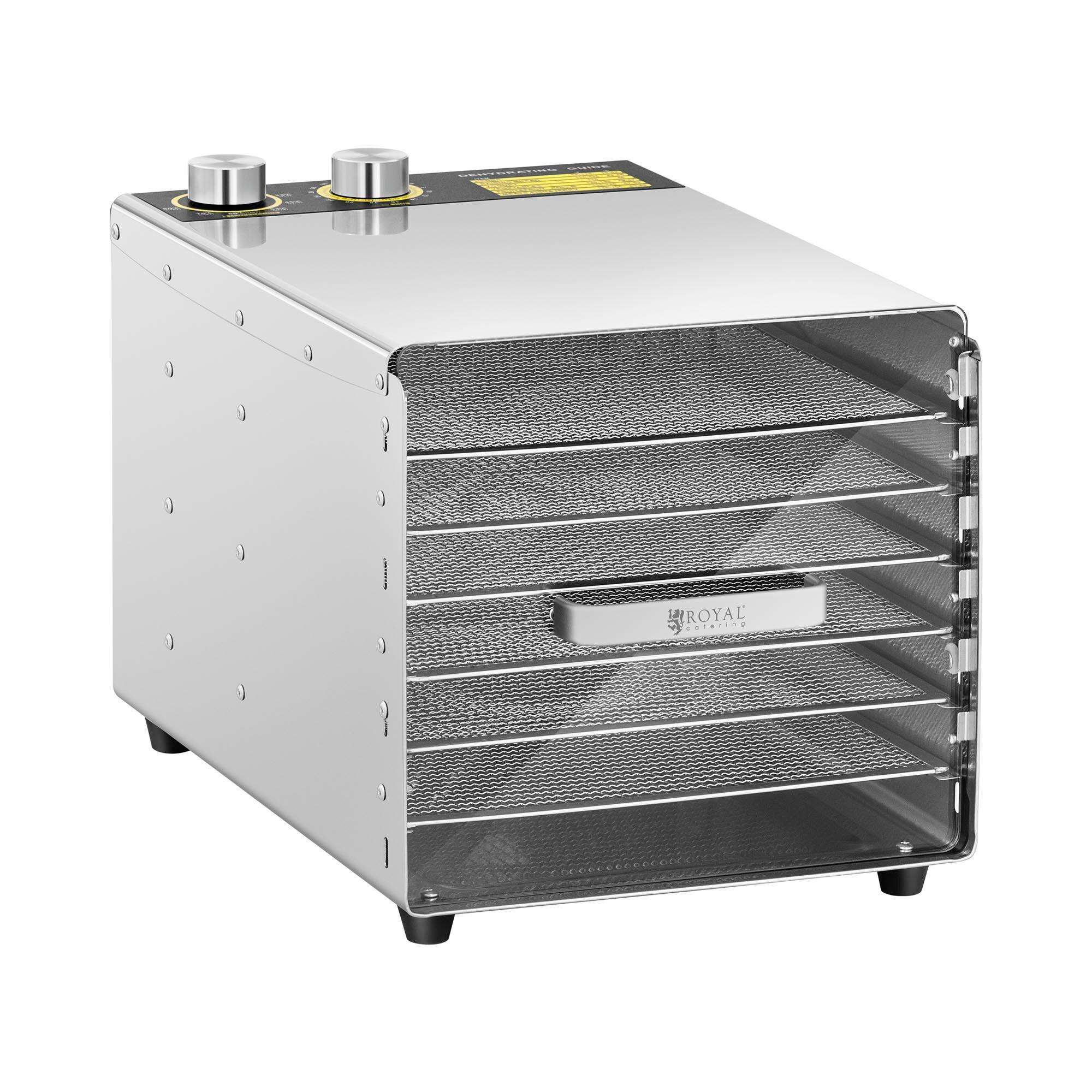 royal catering essiccatore per alimenti professionale - 500 w - 6 ripiani rcda-500/23s