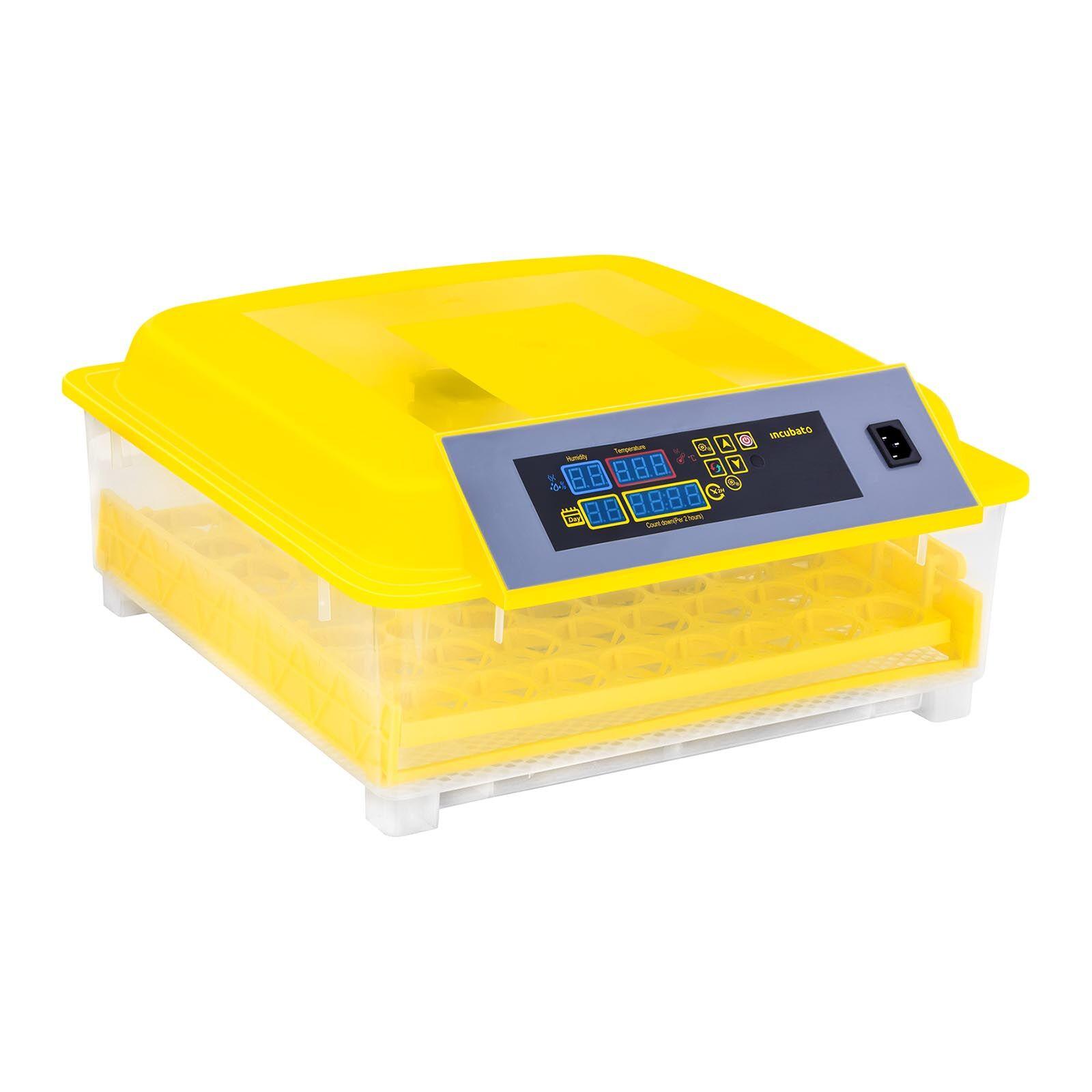 incubato Incubatrice per uova professionale - 48 uova - lampada sperauova e distributore d'acqua inclusi - completamente automatica IN-48DDI