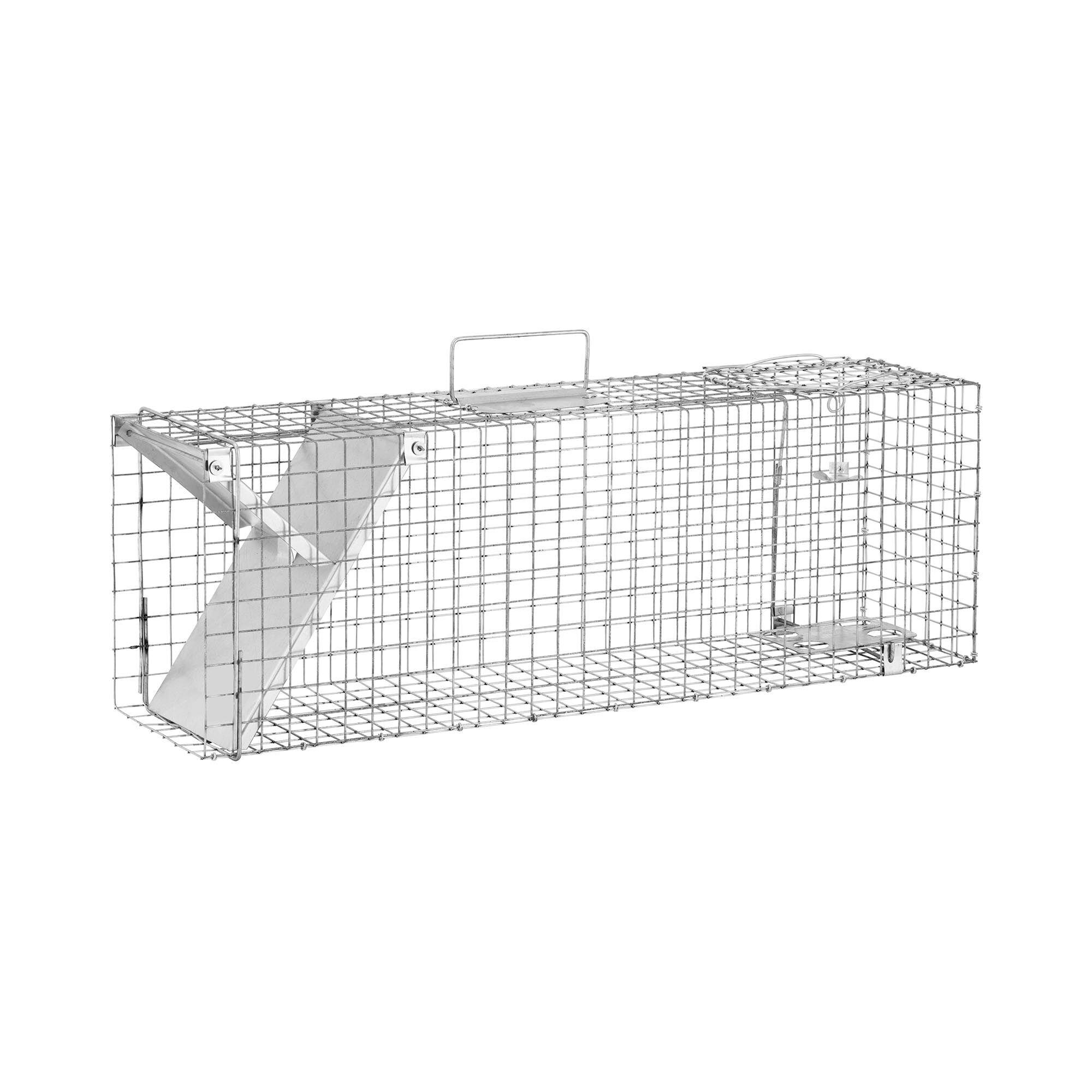 Wiesenfield Trappola per animali - 820 x 200 x 270 mm - Dimensioni grata: 25 x 25 mm WIE-AT-200