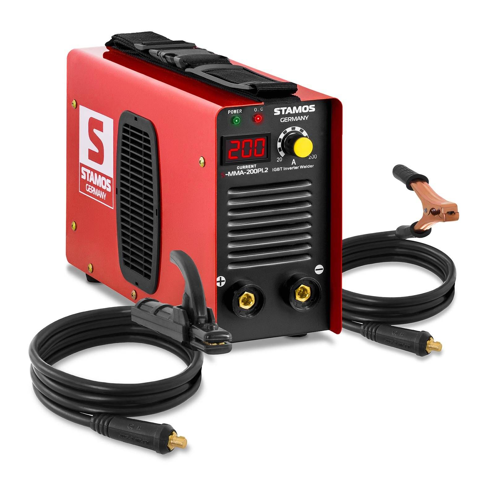 stamos germany saldatrice mma - 200 a - 230 v - hot start - igbt - display a led s-mma-200pi.2