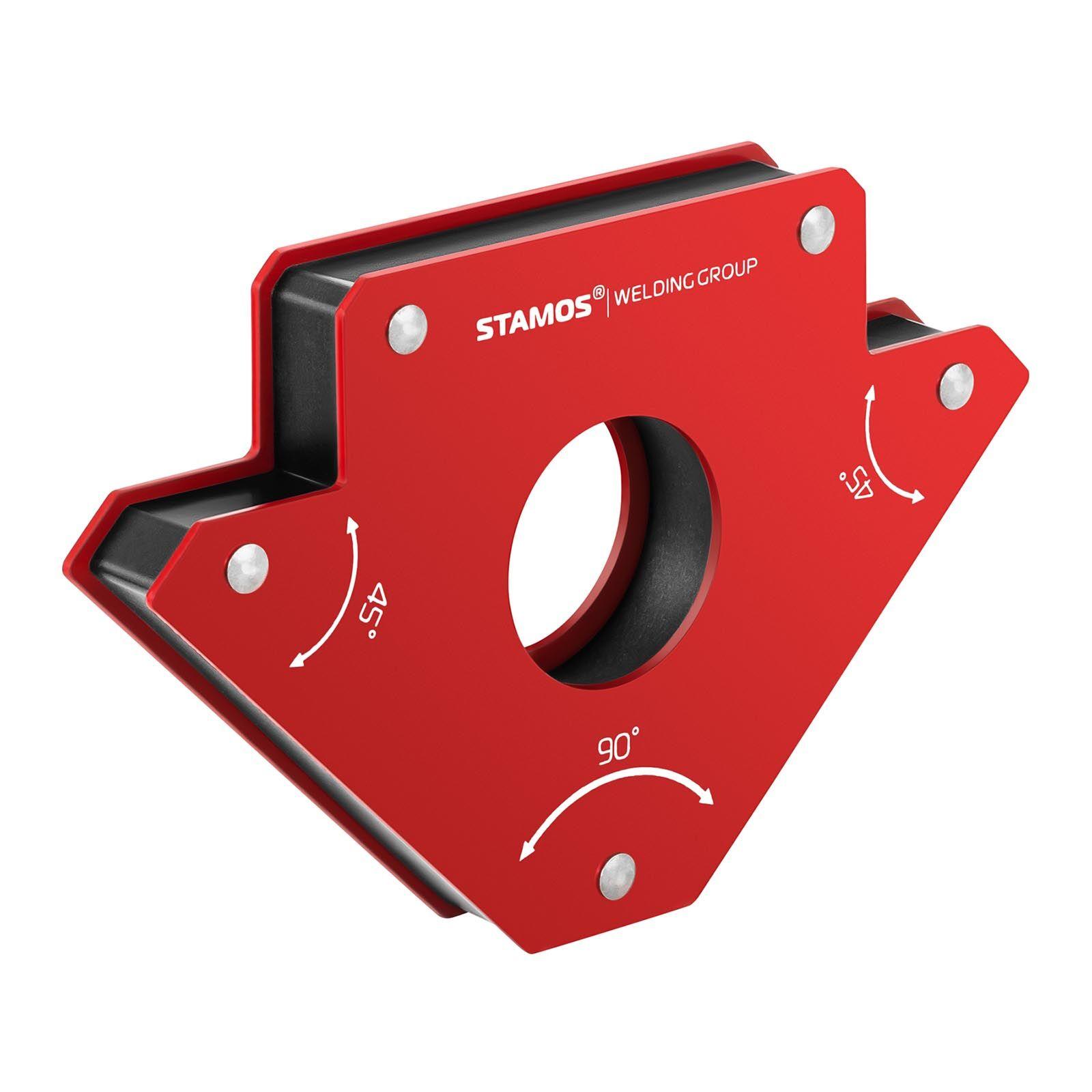 stamos welding group supporto magnetico per saldatura - set da 2 pezzi - 19 x 12 x 2,4 cm swg-mwh-l