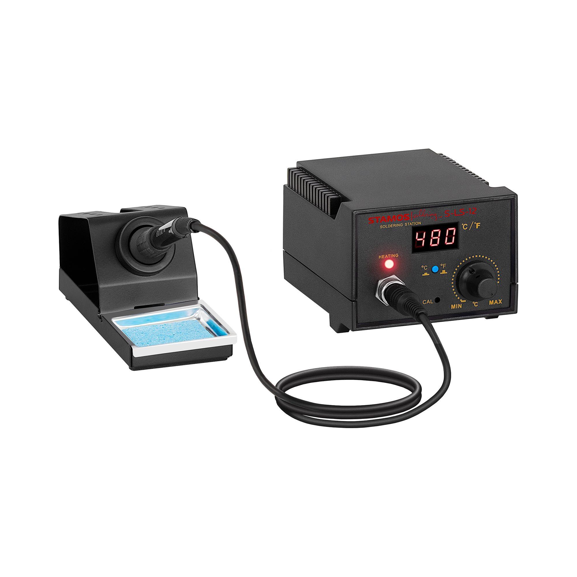 stamos soldering stazione saldante digitale - 65watt - led display- basic s-ls-12 basic