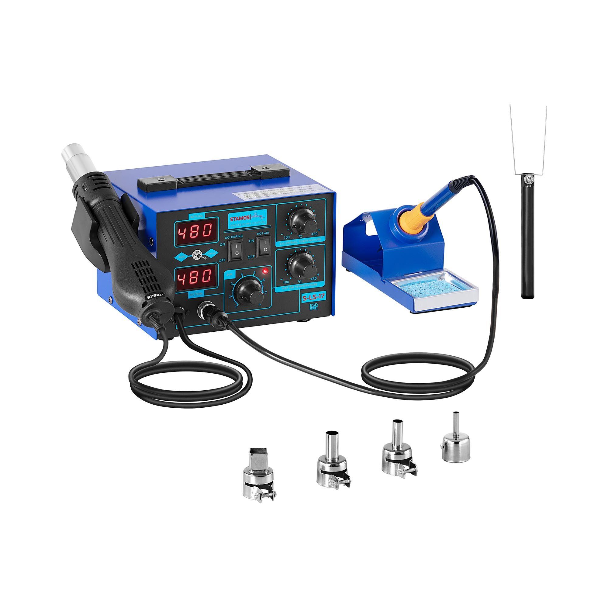 stamos soldering stazione saldante con alimentatore integrato - 730w - basic s-ls-17 basic