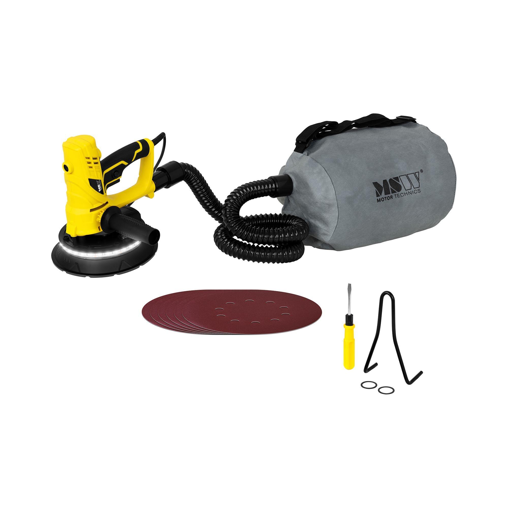 msw levigatrice per muri - 850 w - con luce al led e sacchetto per la polvere -dws850wl