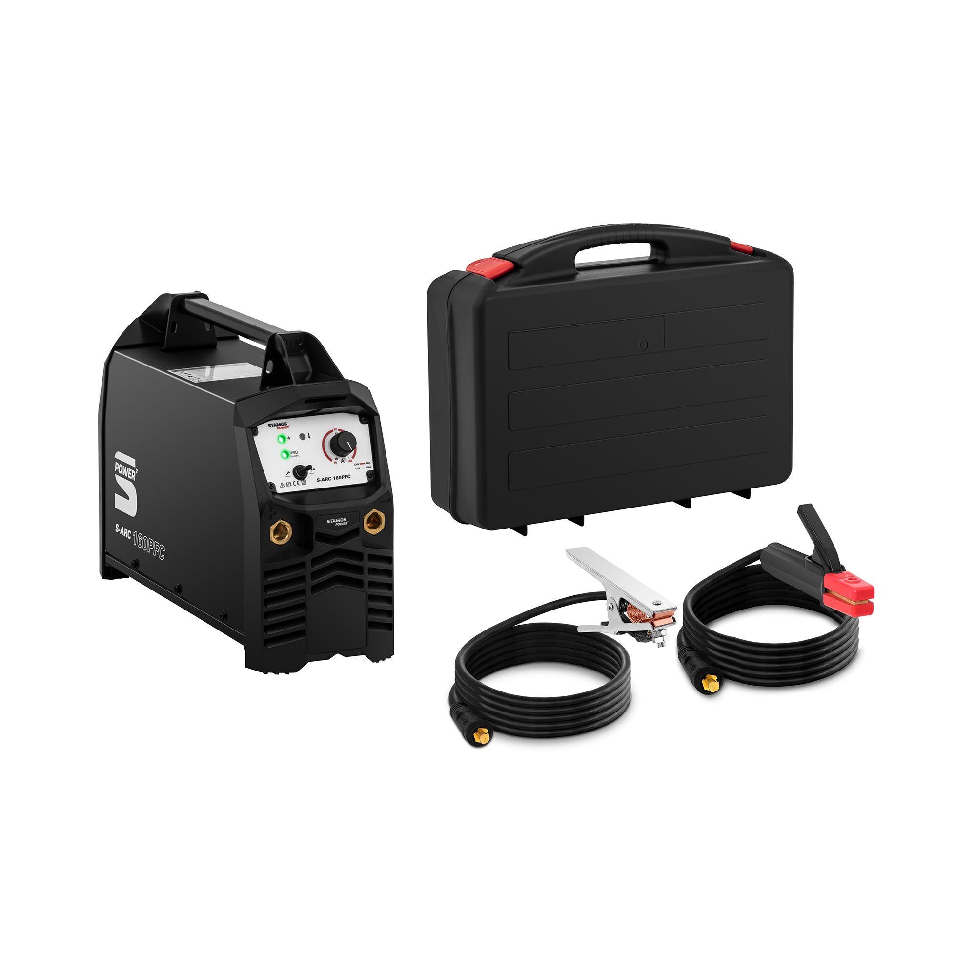 stamos power ² saldatrice mma - 160 a - tig liftarc - generatore di corrente compatibile s-arc 160pfc