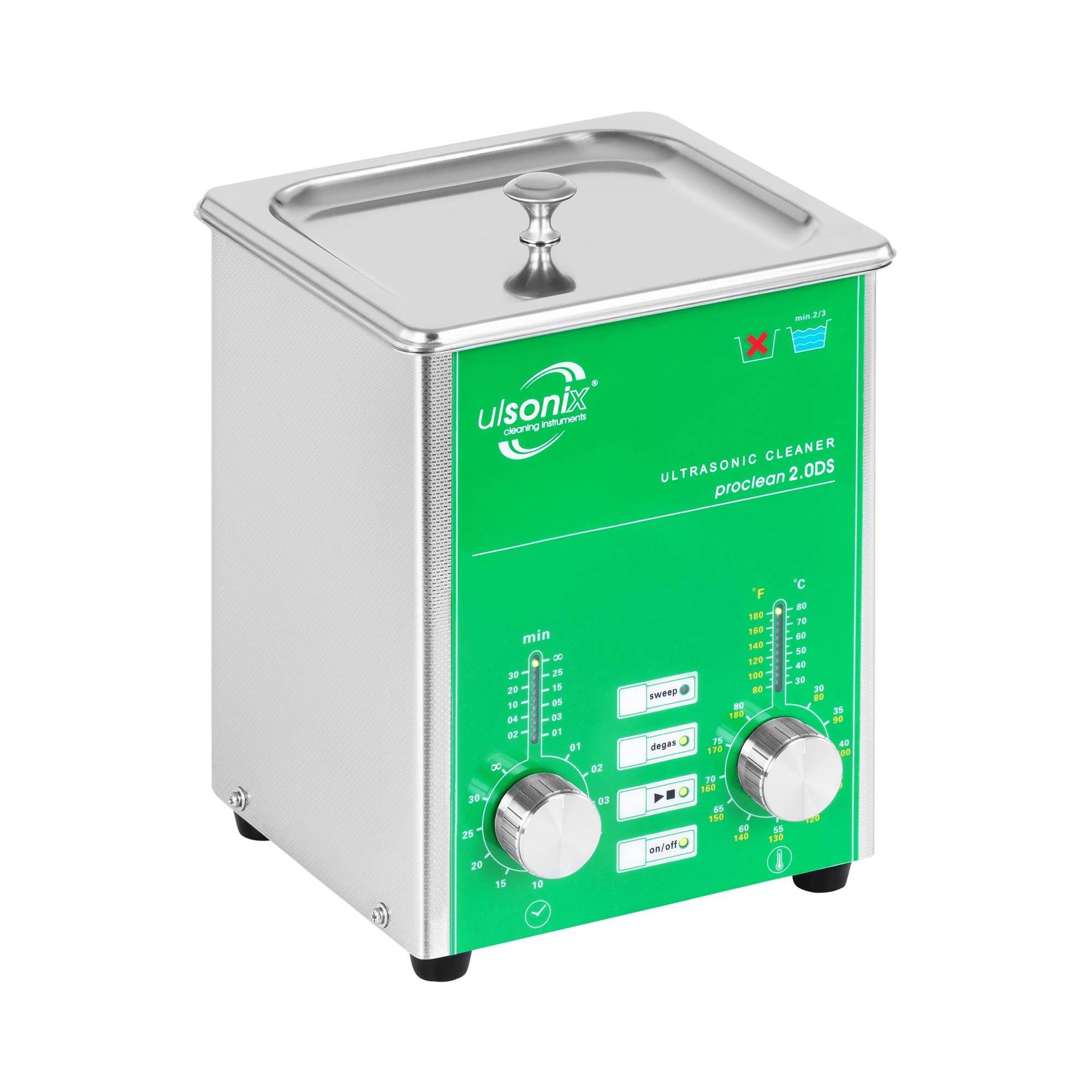 ulsonix lavatrice a ultrasuoni - 2 litri - scarico gas - sweep - per uso professionale