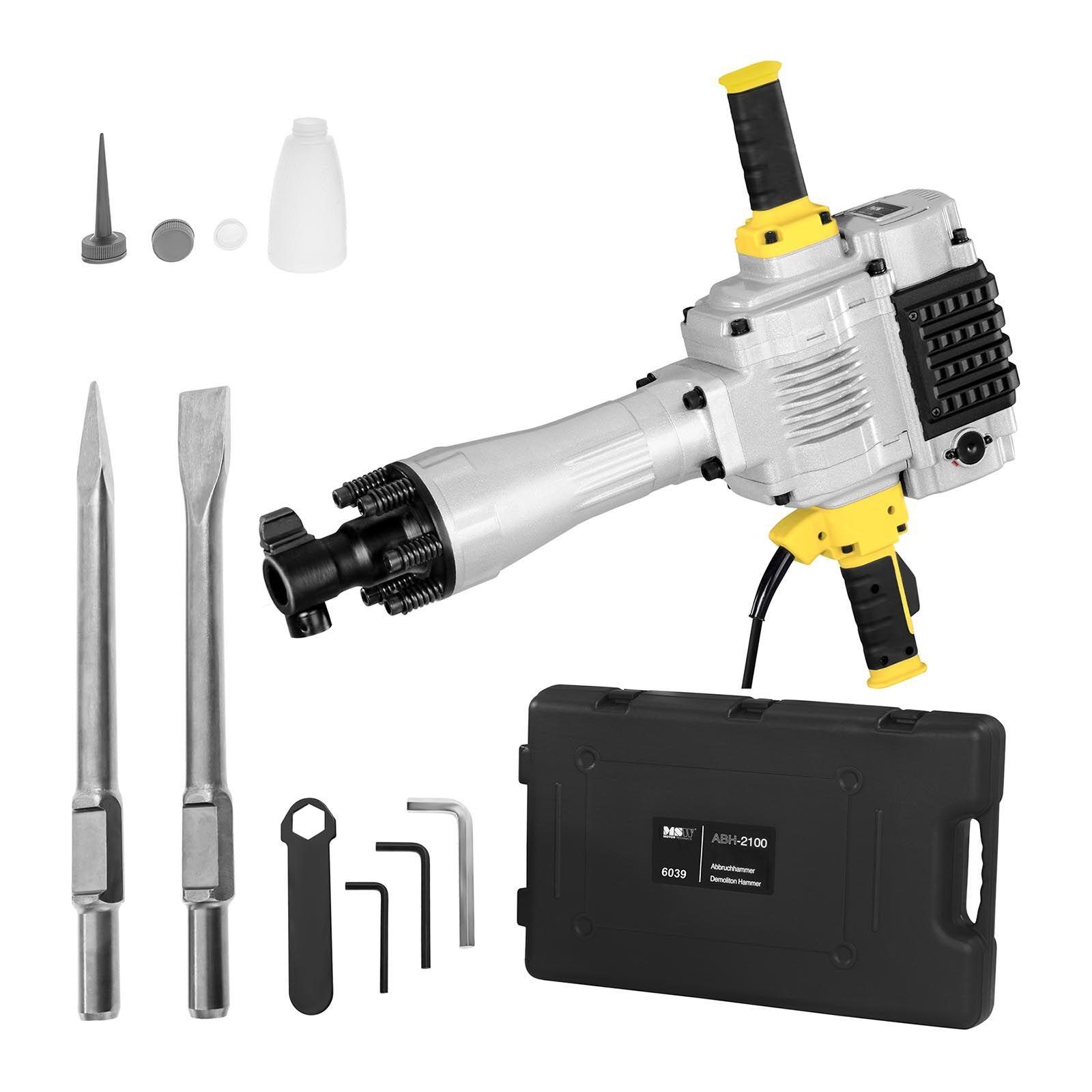 msw martello demolitore - 1.600 colpi/min - per uso professionale