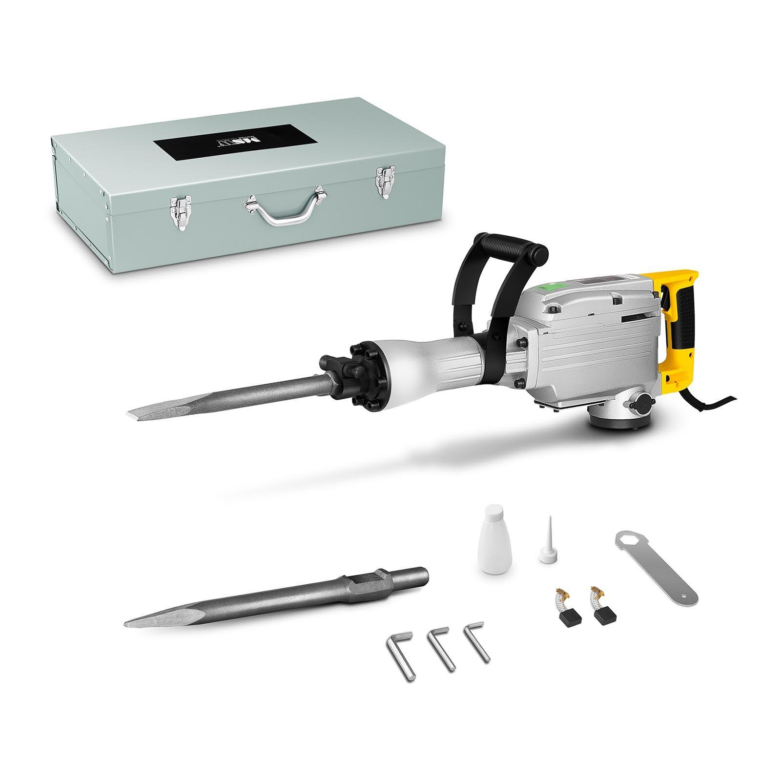 msw martello demolitore - 1.850 w - 1.900 battiti / min - 45 joule - sds hex - per uso professionale