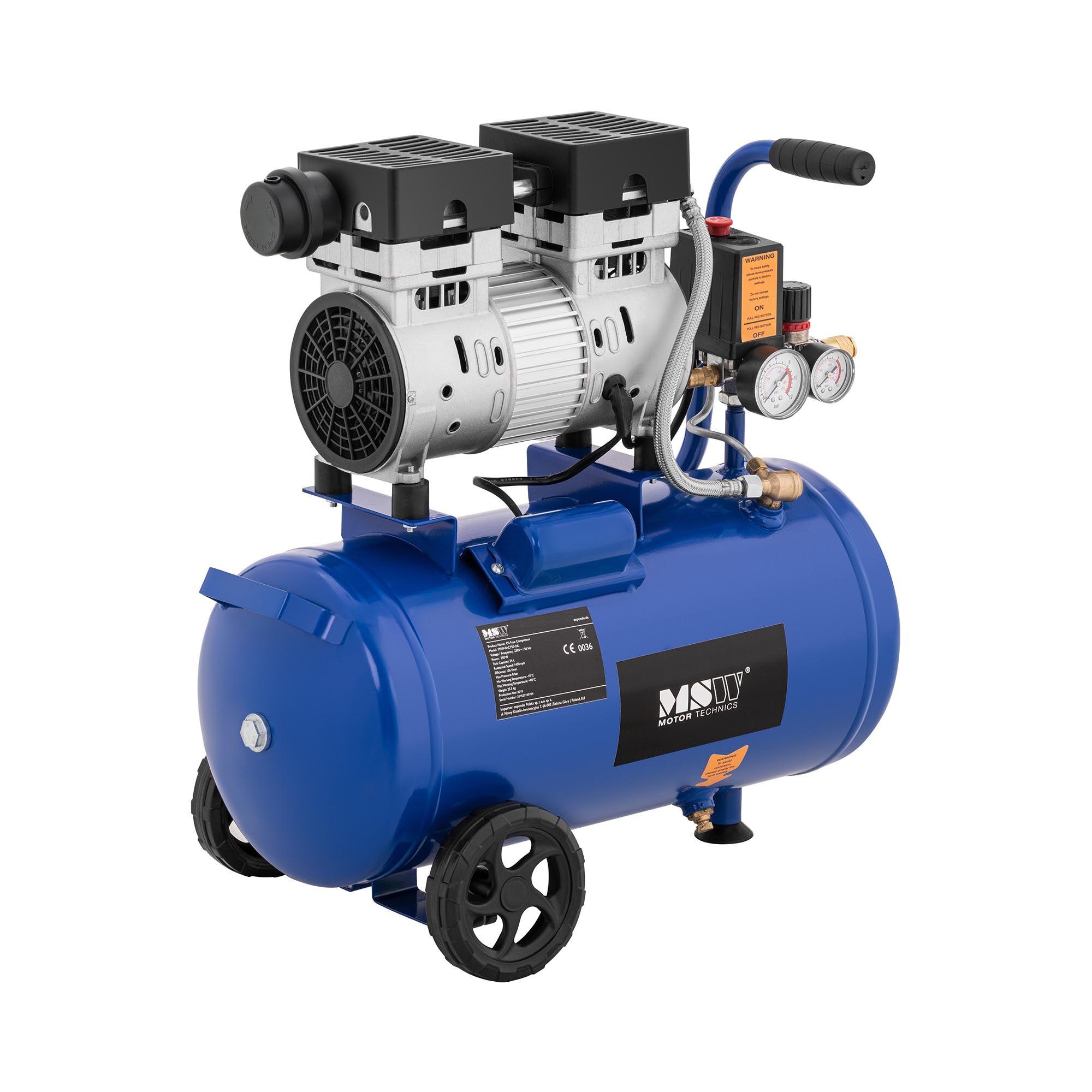 MSW Compressore senza olio - 24 L - 750 W -0AC750-24L