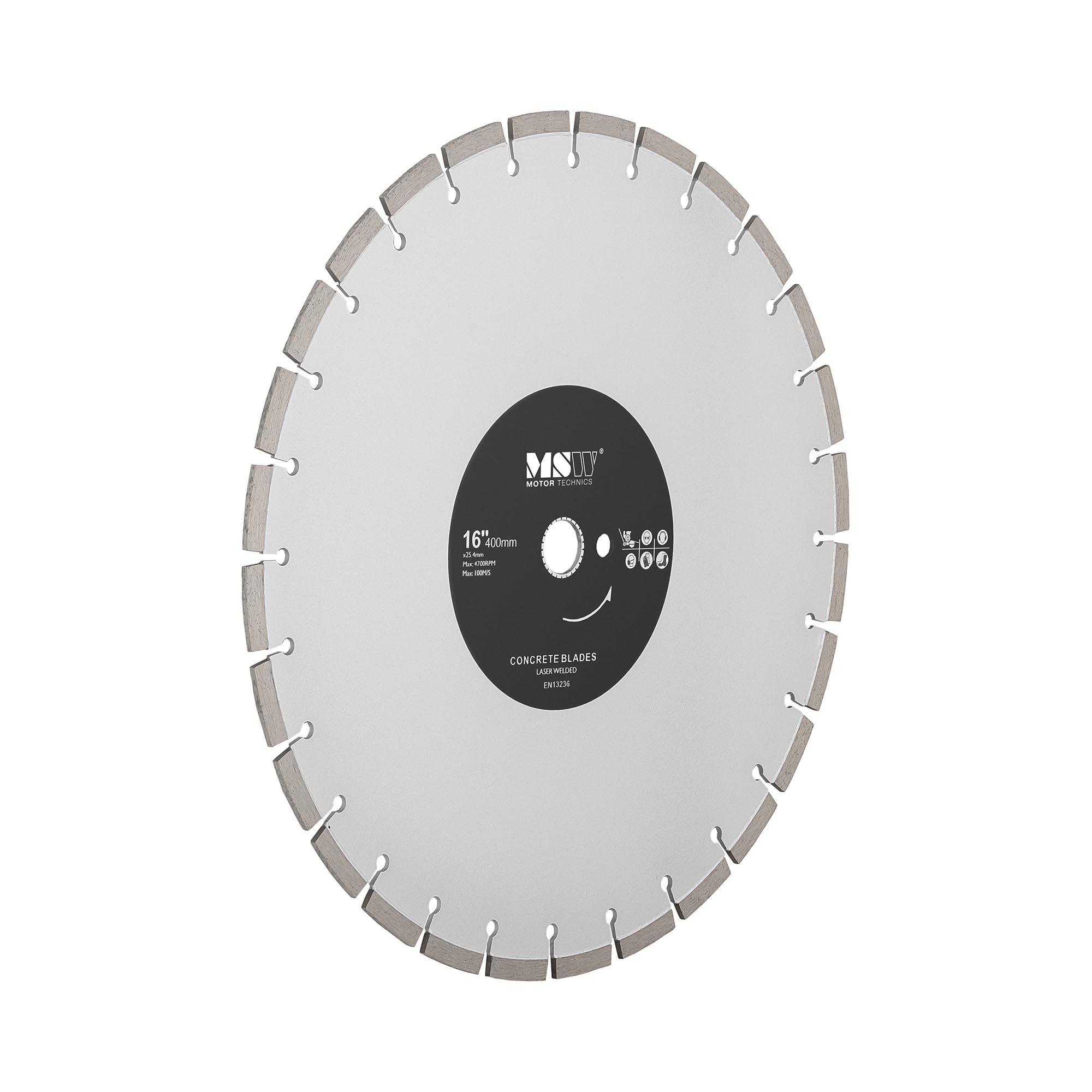 MSW Disco diamantato per sega circolare - Lama per taglio cemento, mattoni e altro - 400 mm -FSCB-400/25
