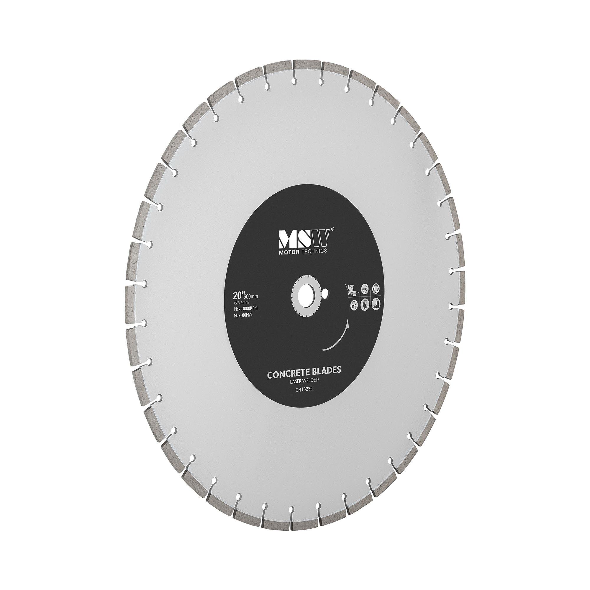 MSW Disco diamantato per sega circolare - Lama per taglio cemento, mattoni e altro - 500 mm -FSCB-500/25