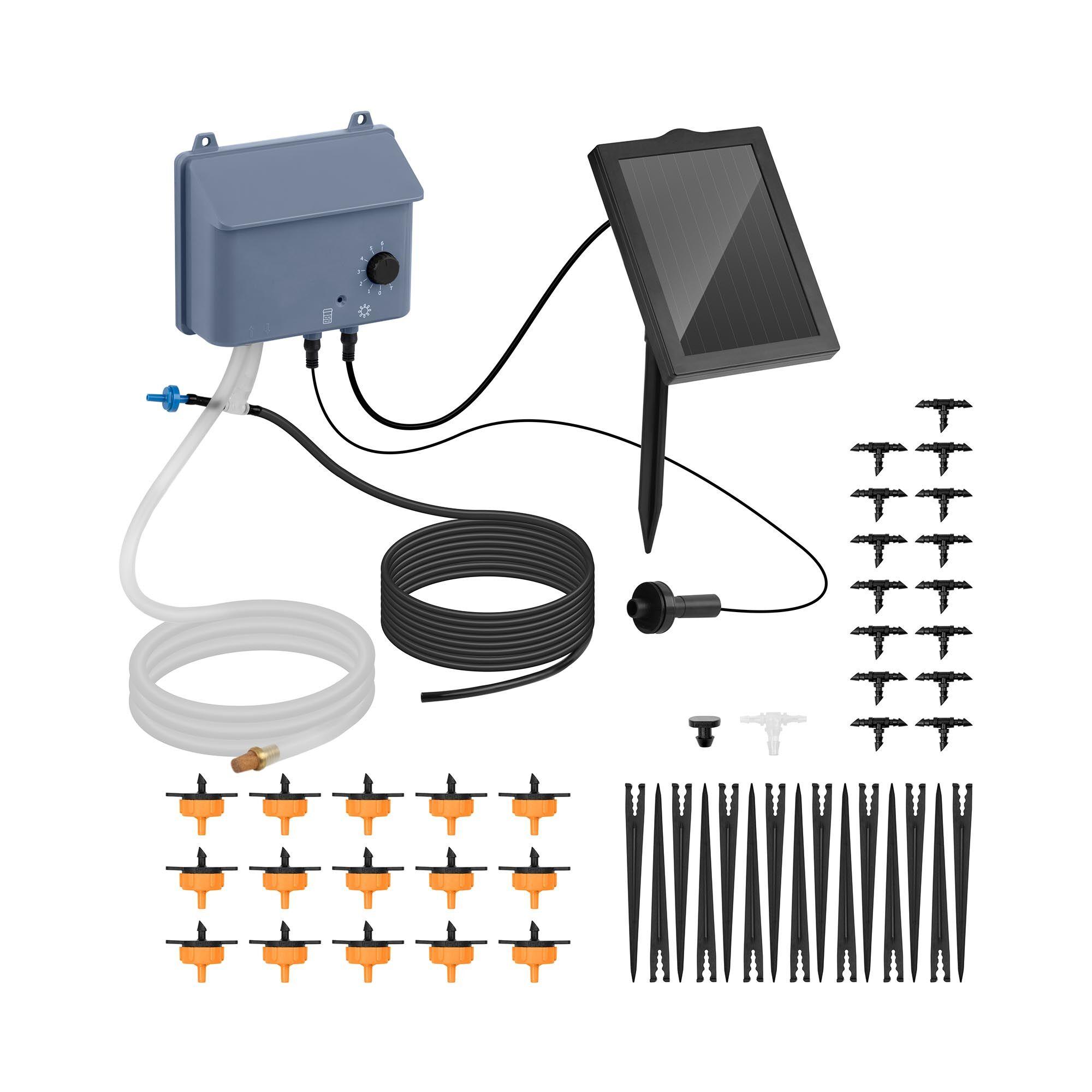 hillvert kit irrigazione solare - 0,7 w / 6 v - 1.200mah - 0,45 w - 600 ml/min ht-costigan-3600