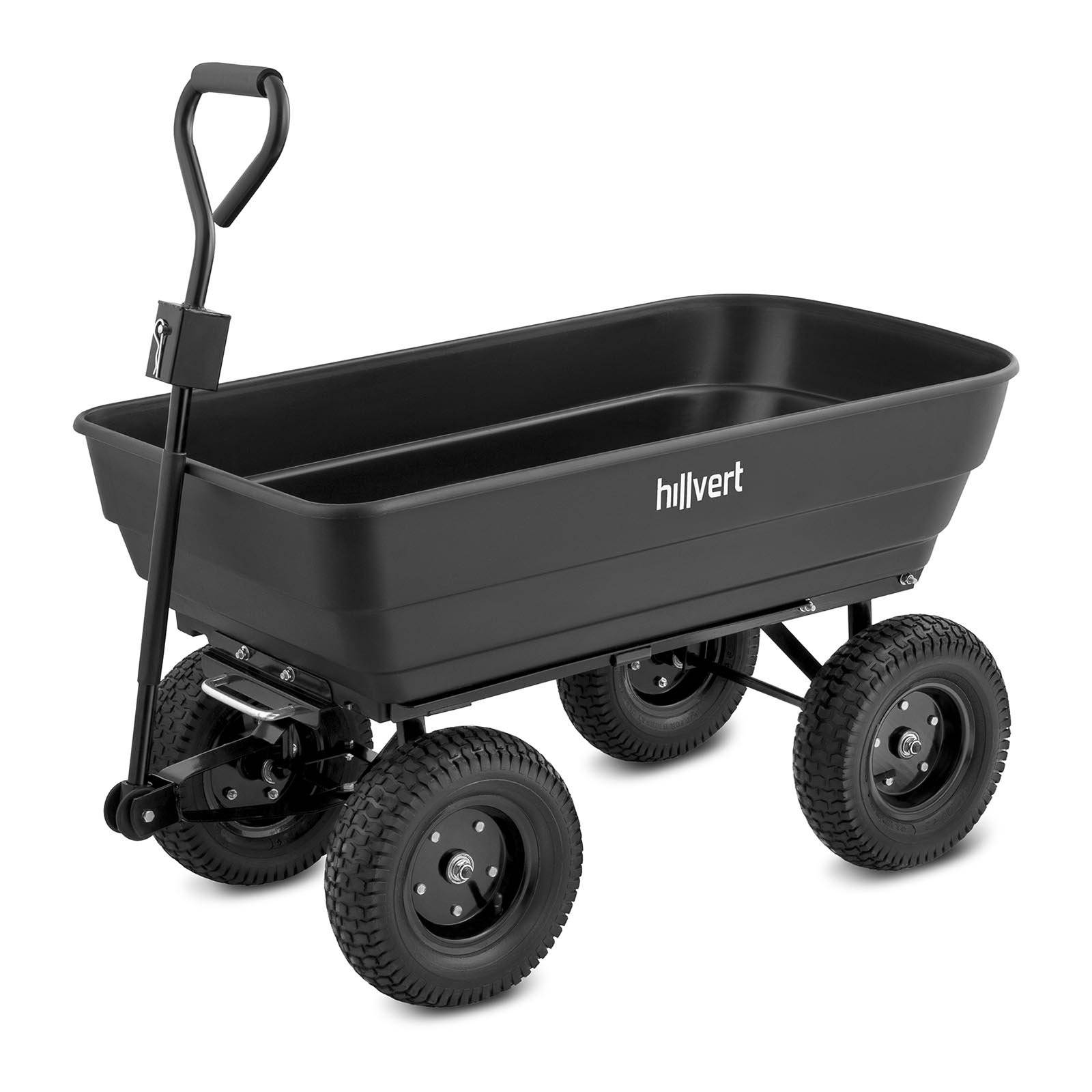 hillvert Carretto da giardino - 350 kg - ribaltabile - 125 L HT-Q.BASS-125G