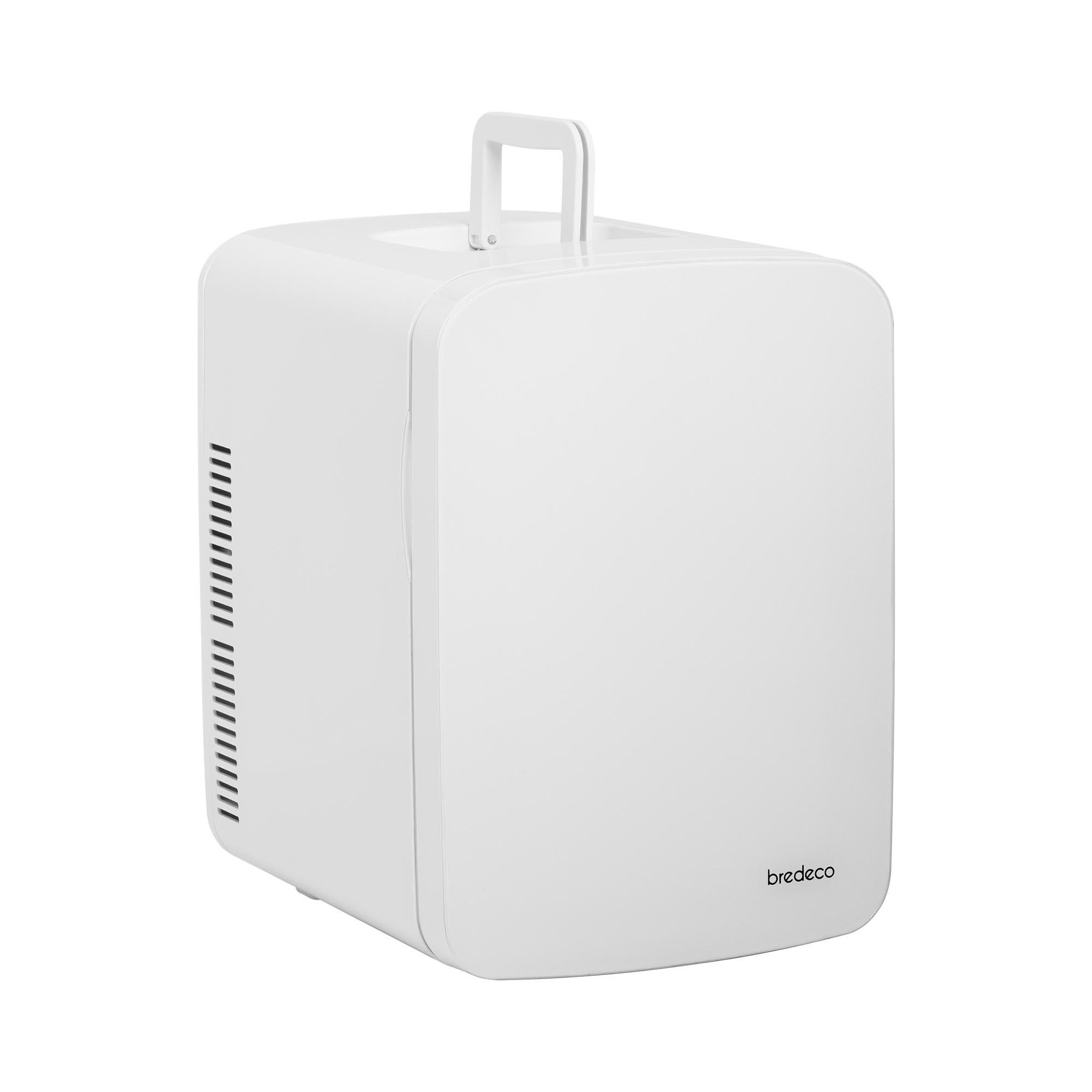 bredeco mini frigo portatile elettrico - 15 l - bianco/grigio