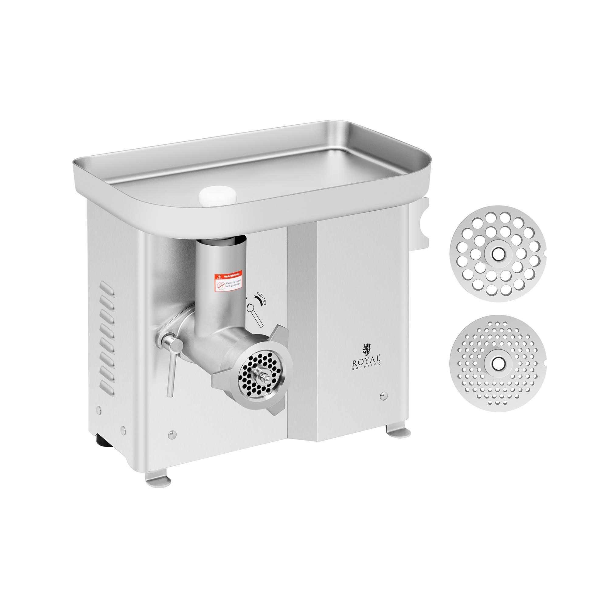 """royal catering tritacarne elettrico - acciaio inossidabile - 150 kg / h - con funzione """"riavvolgimento"""" rcfw-150pro"""
