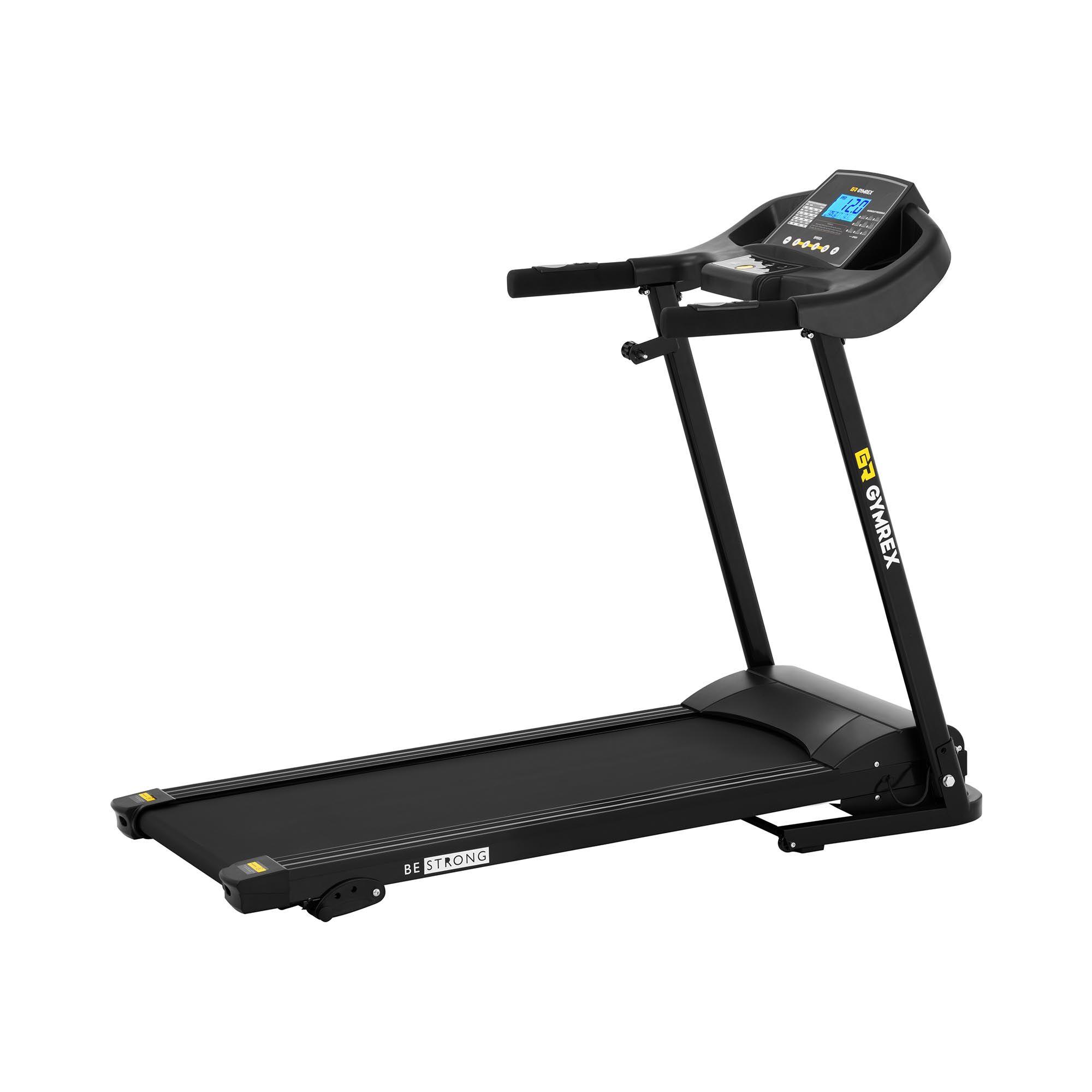 gymrex tapis roulant pieghevole - 1.200 w - da 1 a 12 km/h - 120 kg - 3 livelli di inclinazione gr-mg30