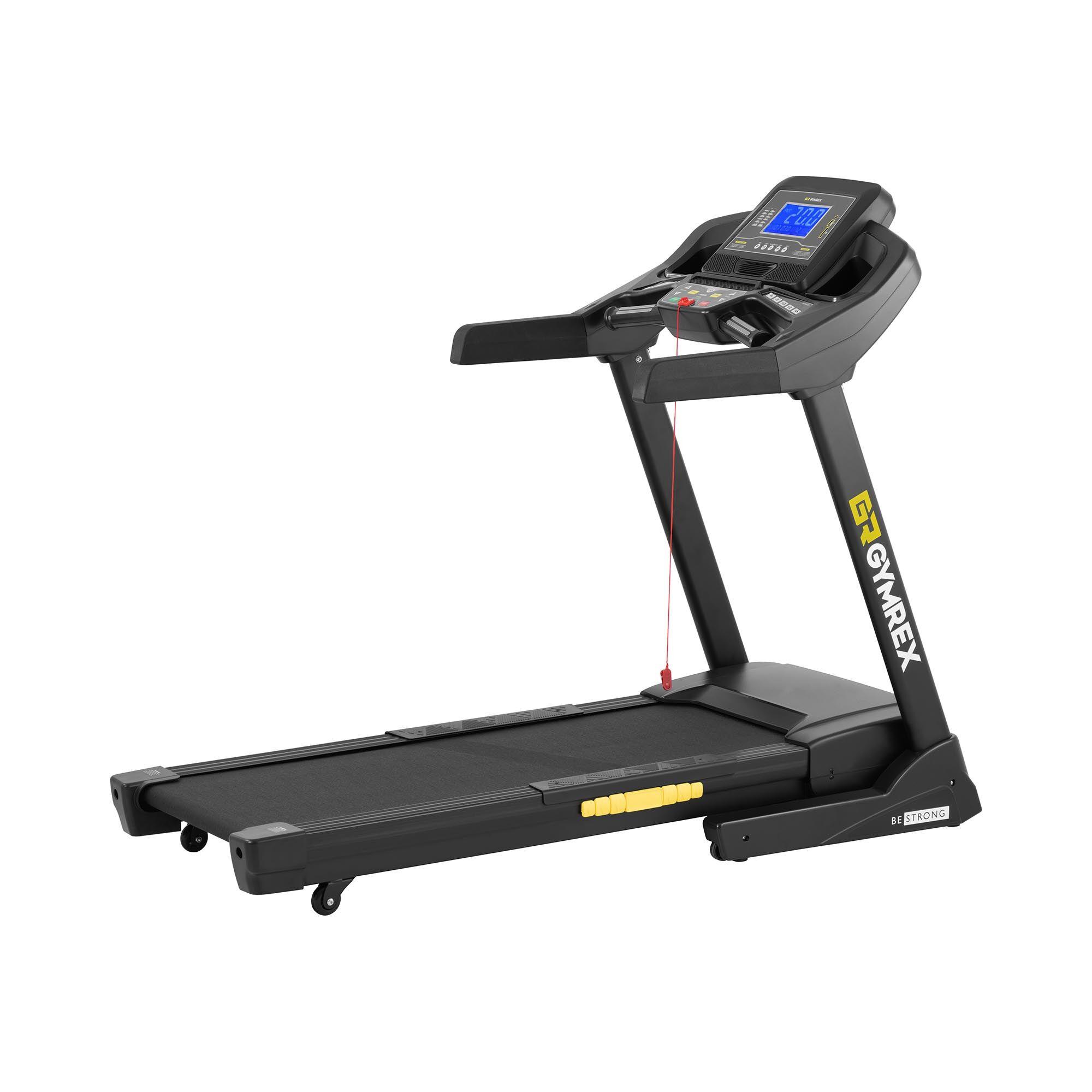 gymrex tapis roulant pieghevole - 1,837 w - 1 - 20 km/h - 150 kg - 12 programmi gr-mg76