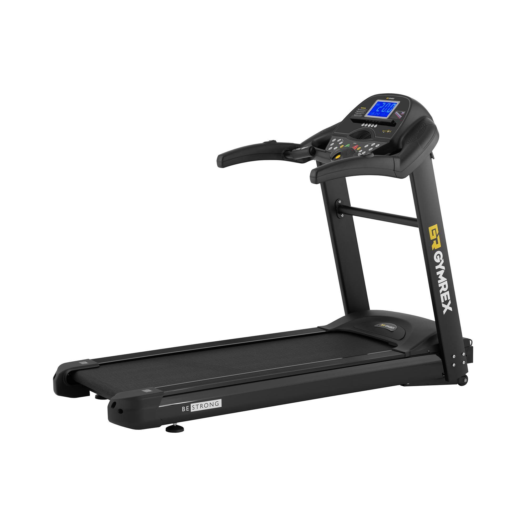 gymrex tapis roulant pieghevole - 1,837 w - 1 - 20 km/h - 150 kg - 12 programmi gr-mg77