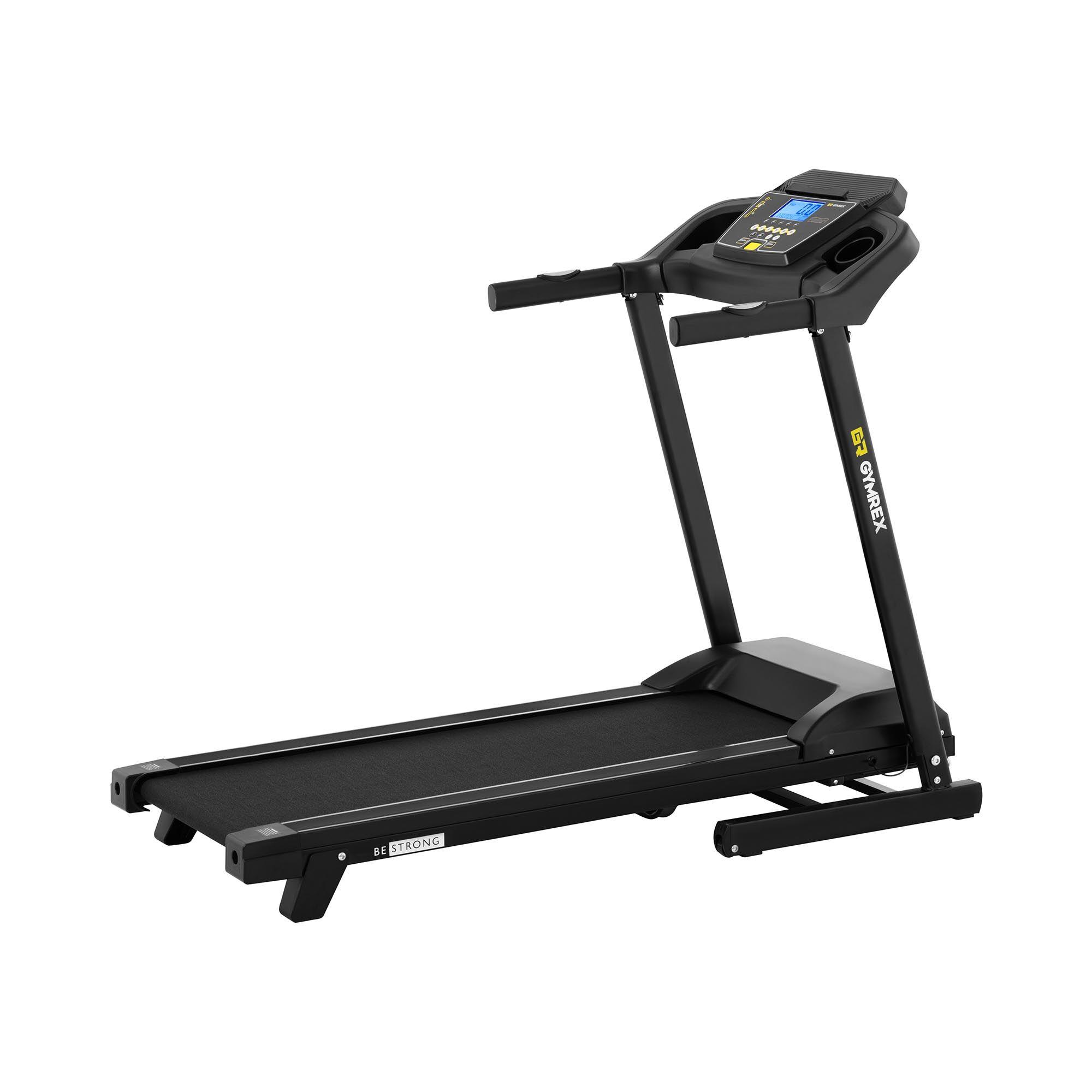 gymrex tapis roulant pieghevole - 1.471 w - da 1 a 12 km/h - 120 kg - 2 livelli di inclinazione gr-mg31